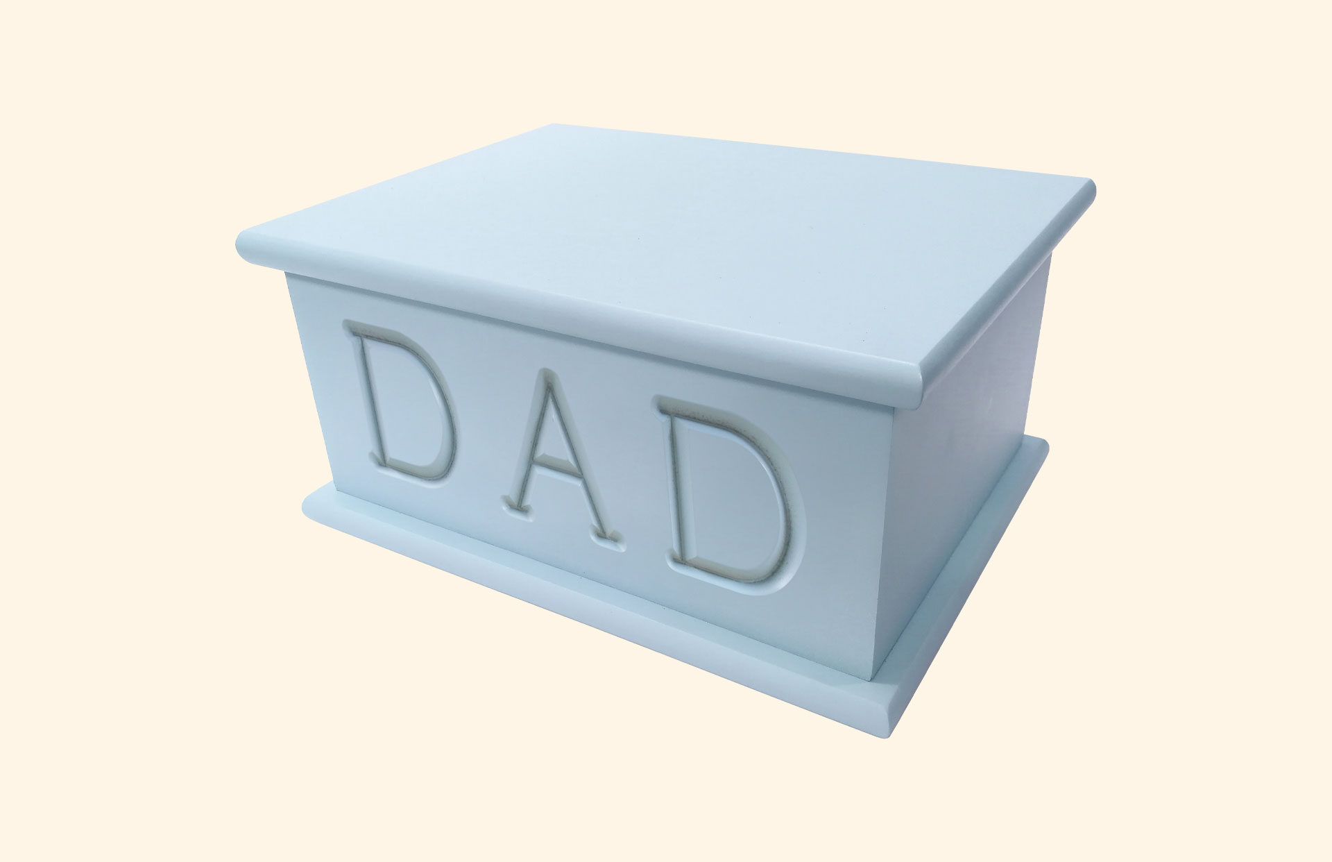 Carved Cremated Remains caskets in blue