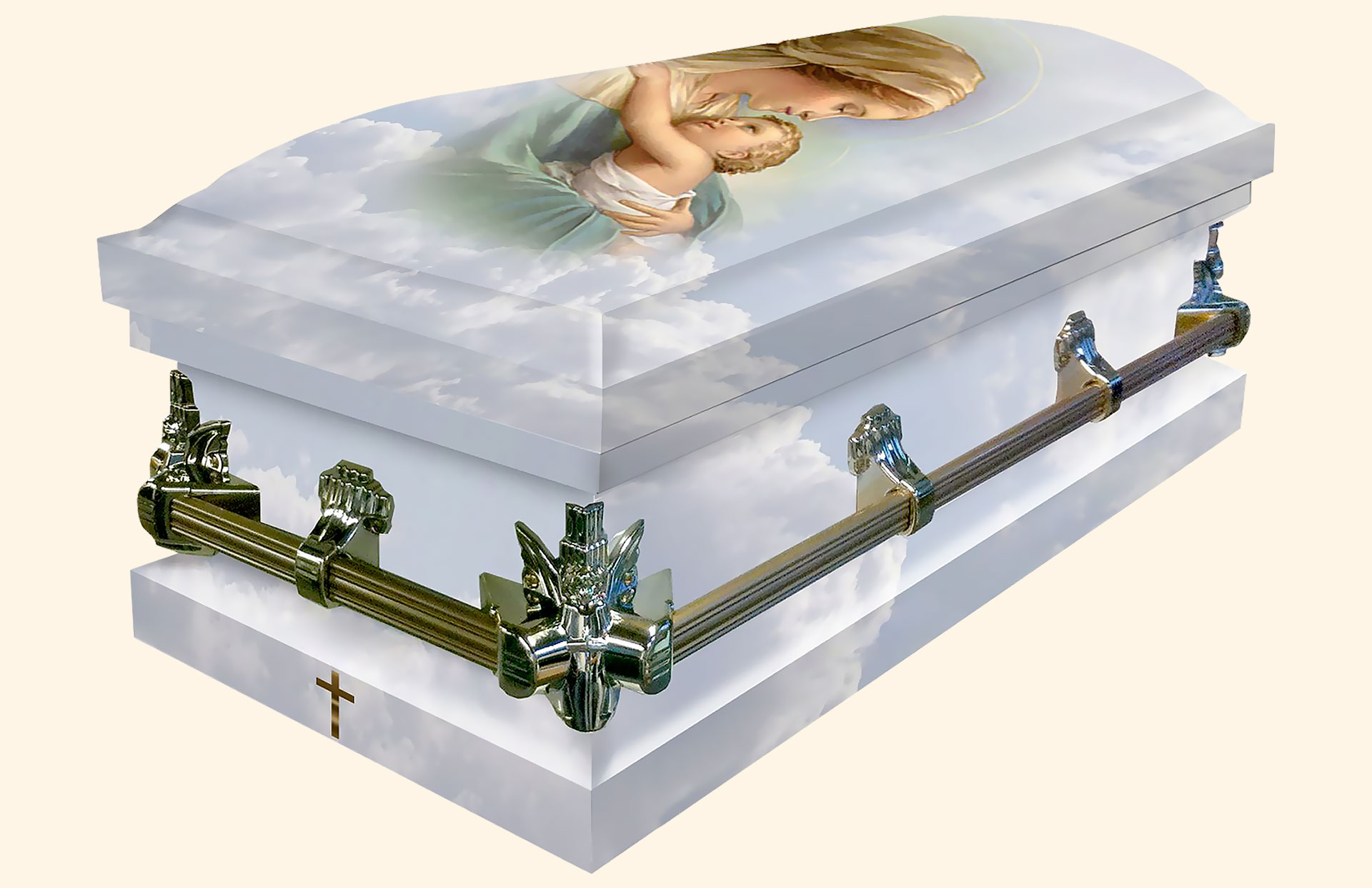 Mother and Child American Metal Casket