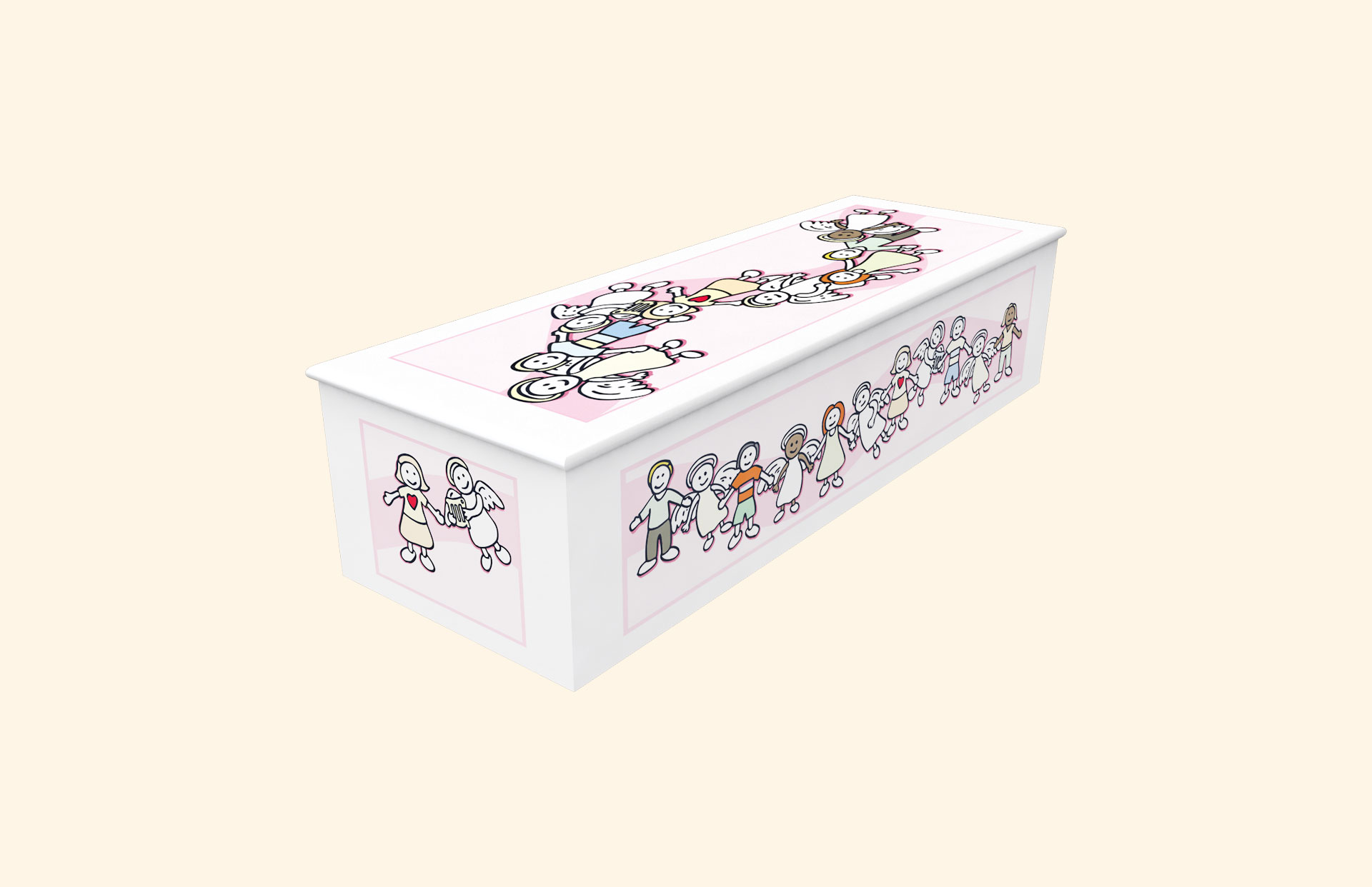 New Angel Pink child casket