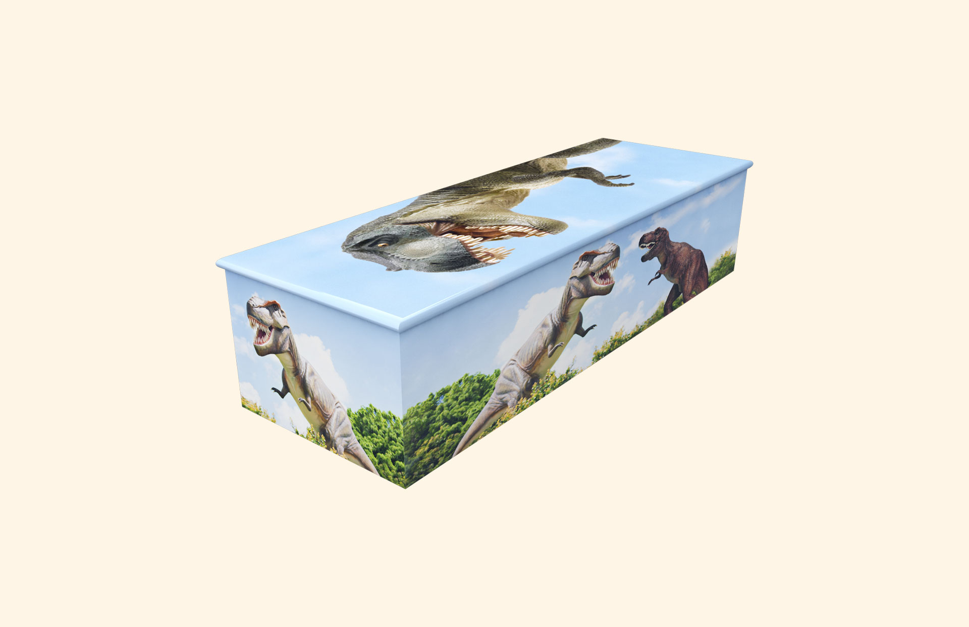 T Rex child casket
