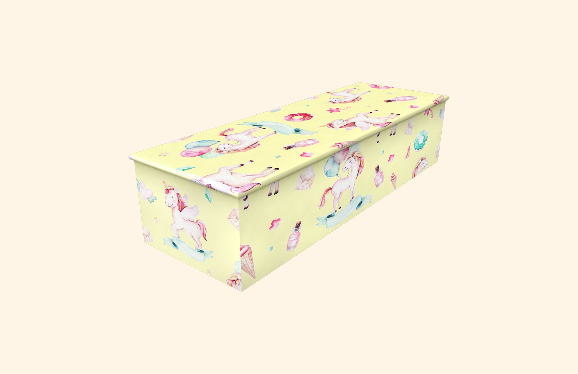 Fly With Unicorns child casket