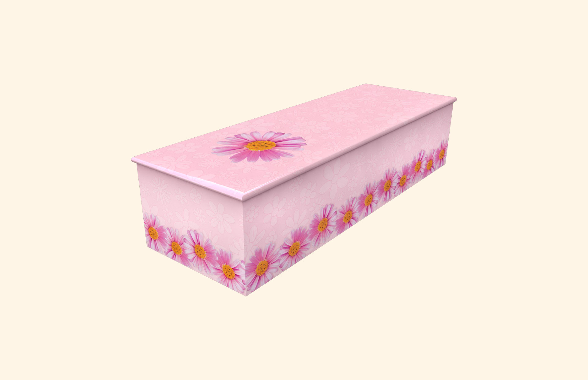 Chain of Daisies pink child casket