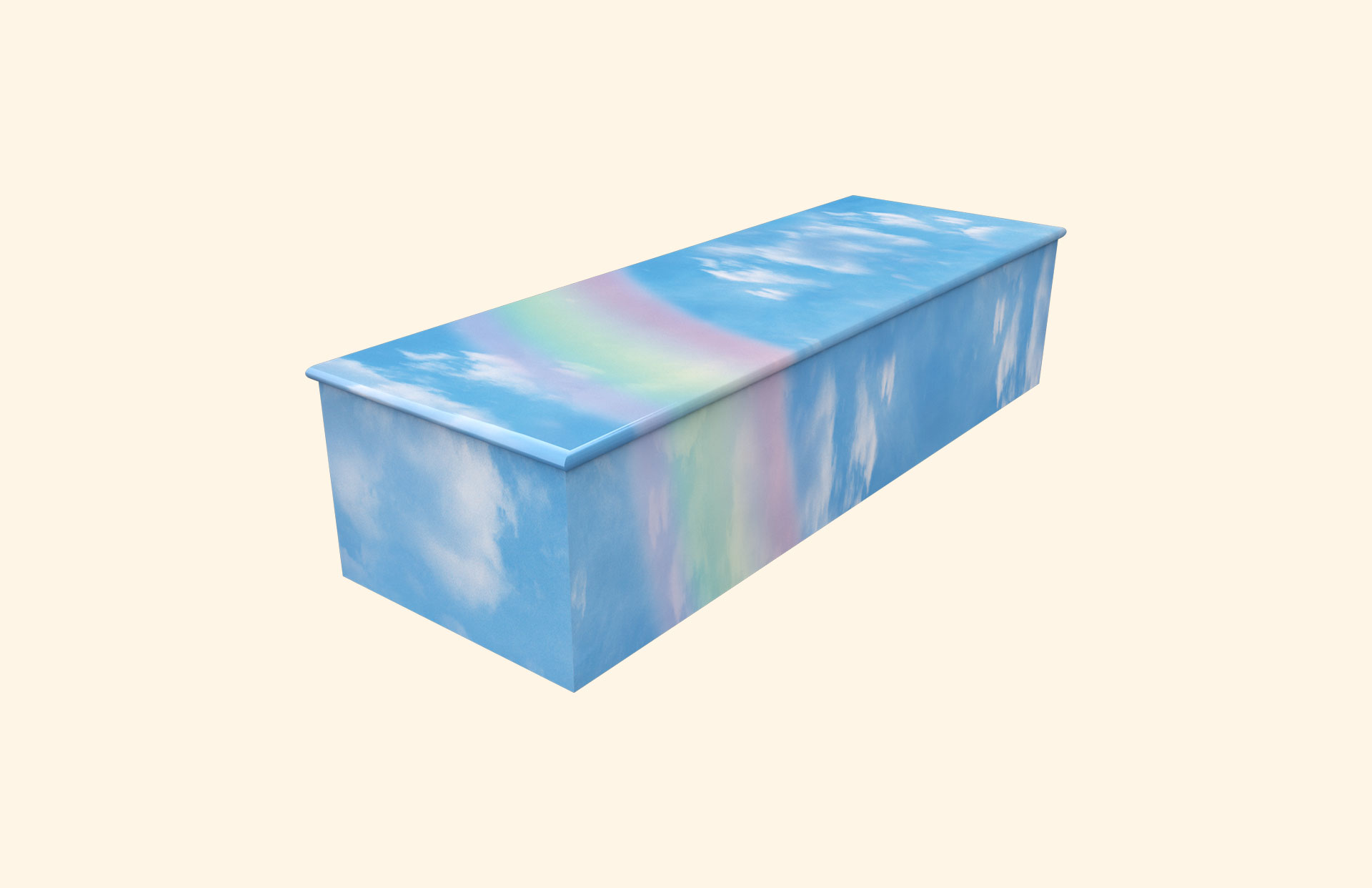 Rainbow on Blue Sky child casket