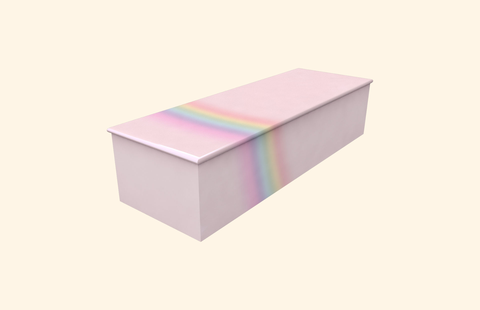 Rainbow on Pink child casket