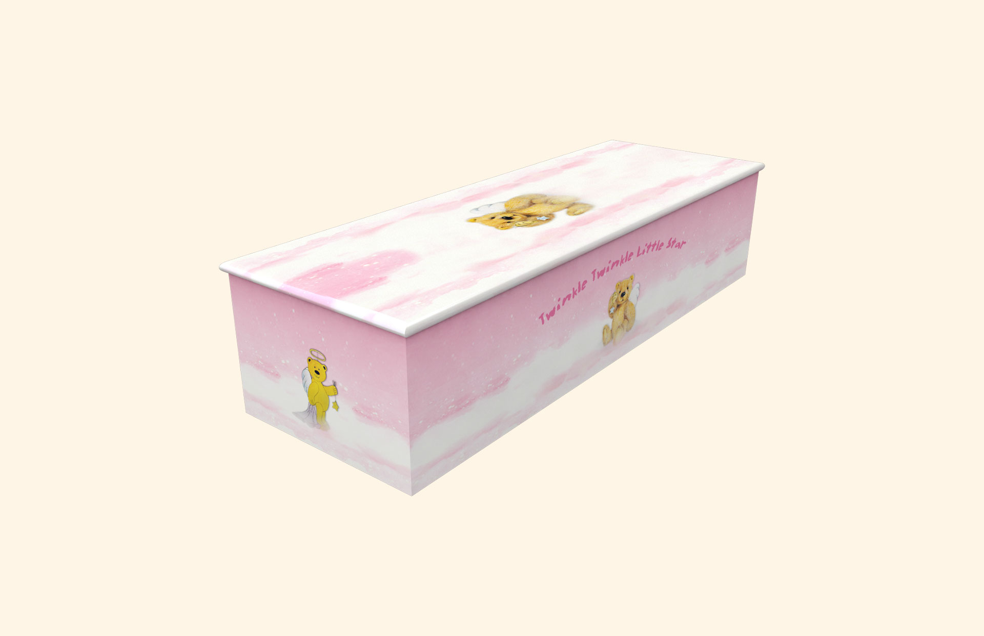 Twinkle Twinkle Little Star Pink child casket