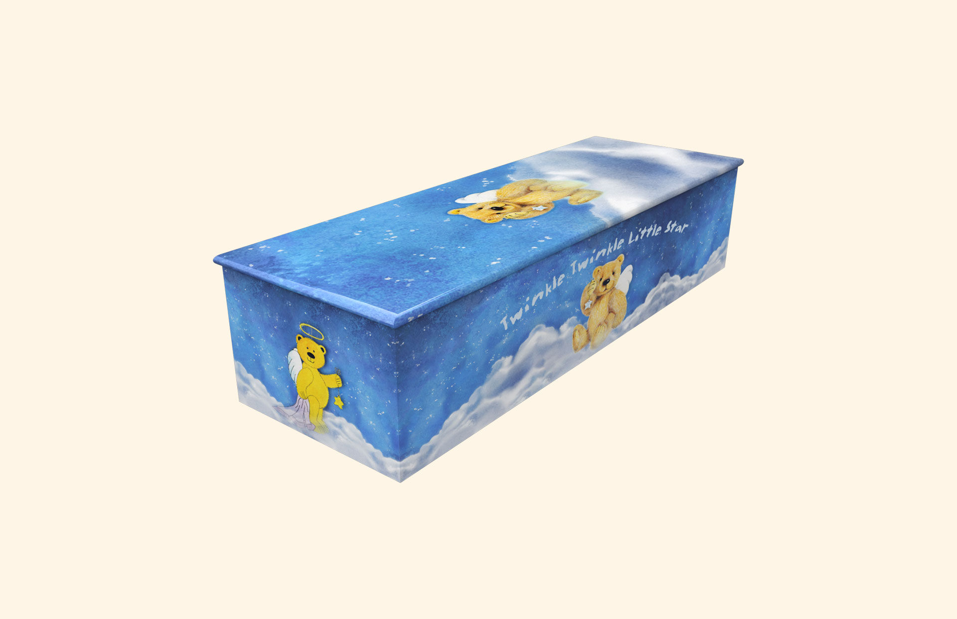 New Twinkle Twinkle Little Star Blue child casket