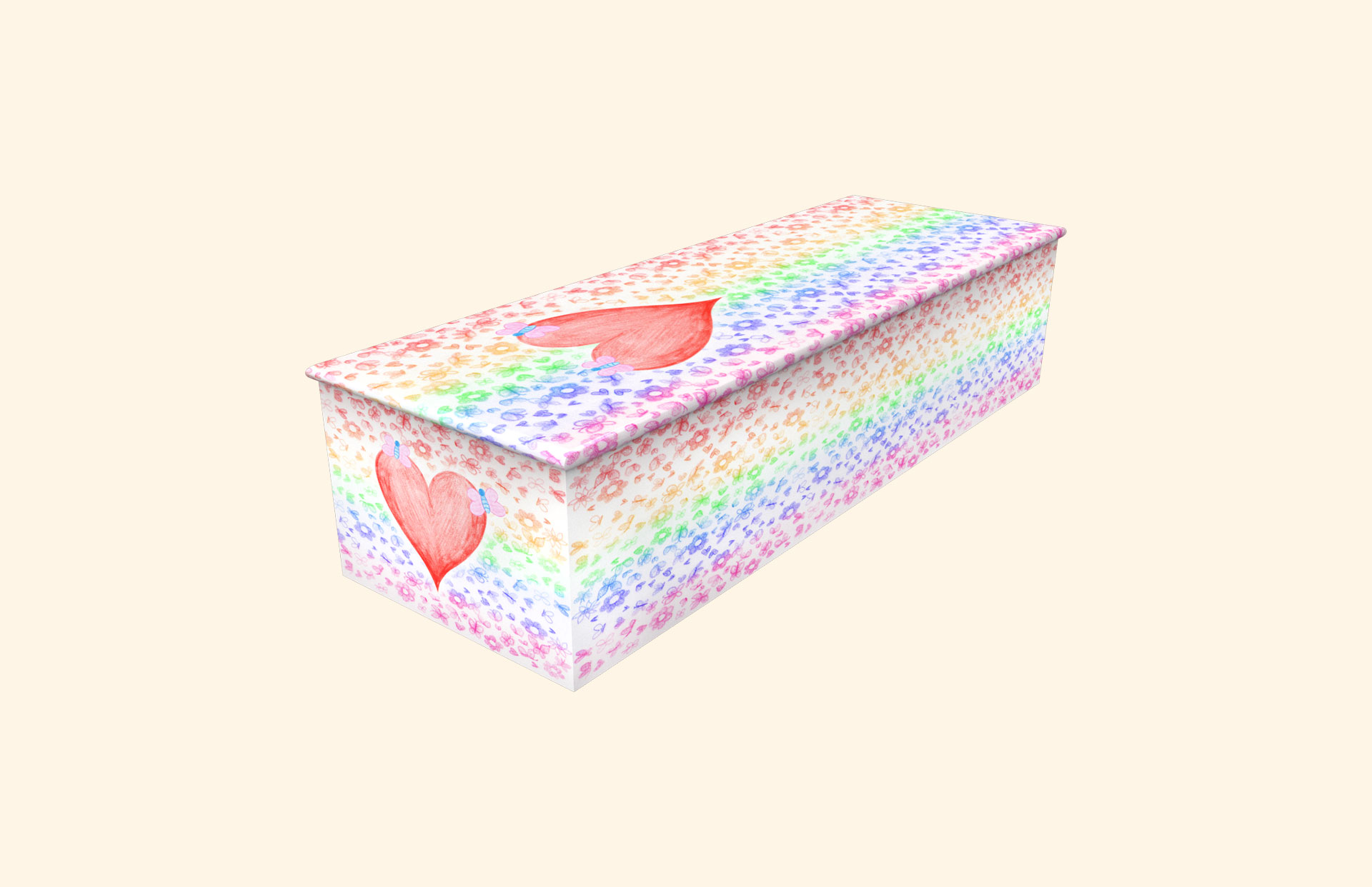 Little Hearts and Flowers child casket