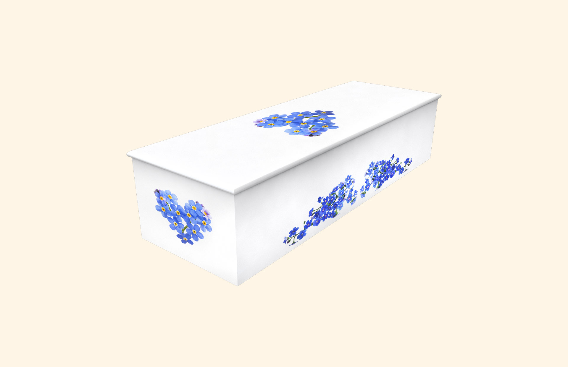 Heart of Forget Me Not child casket