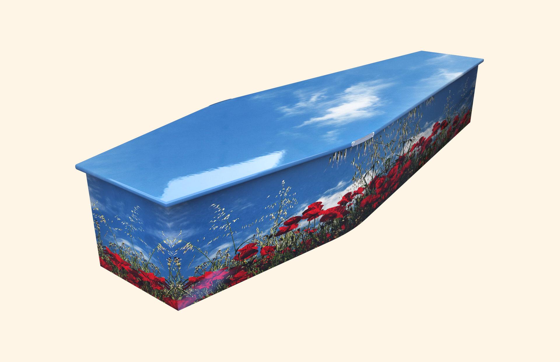 Poppy Wonder Traditional coffin