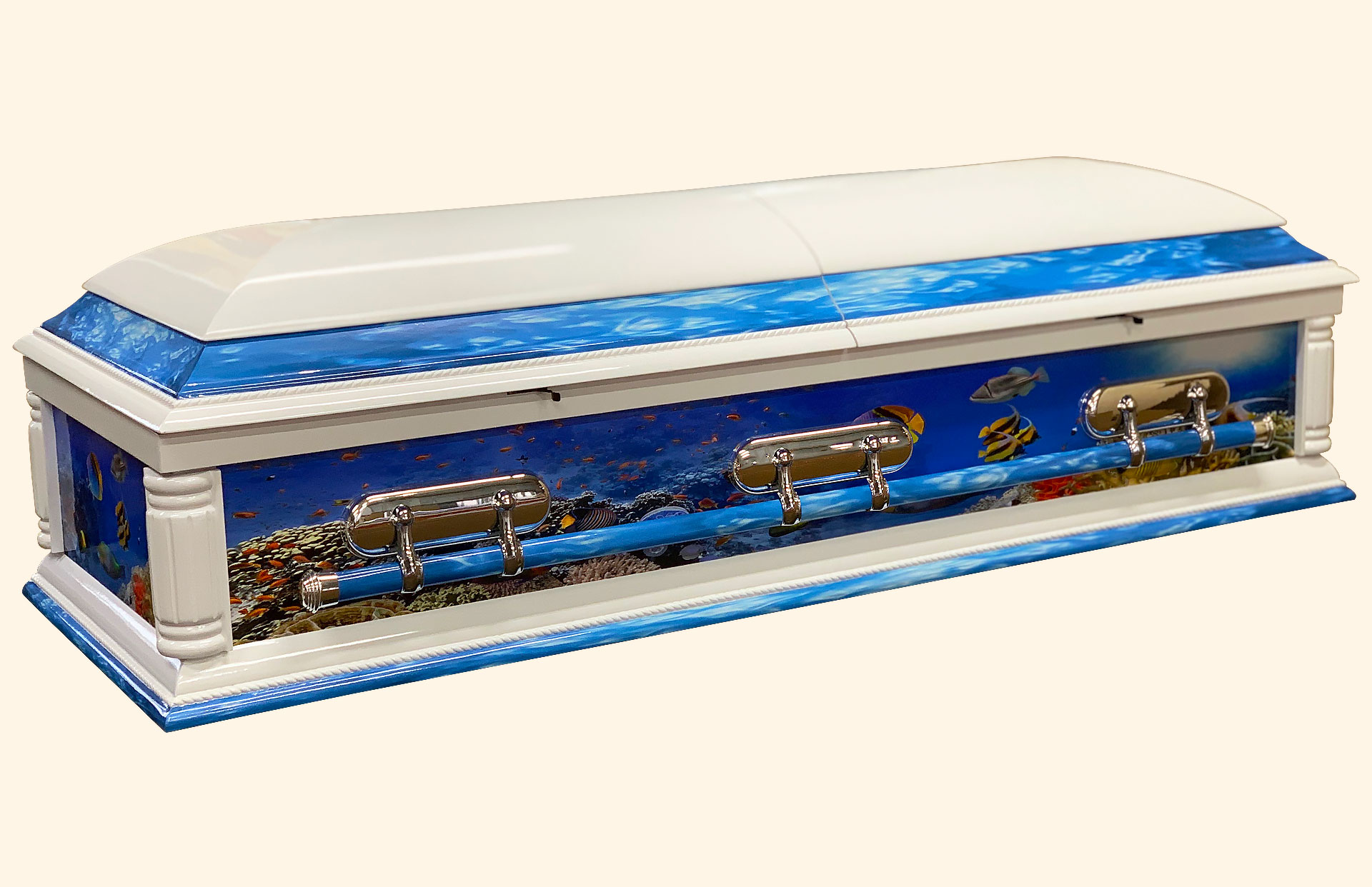Purity Fish Tank Solid Wood American Casket