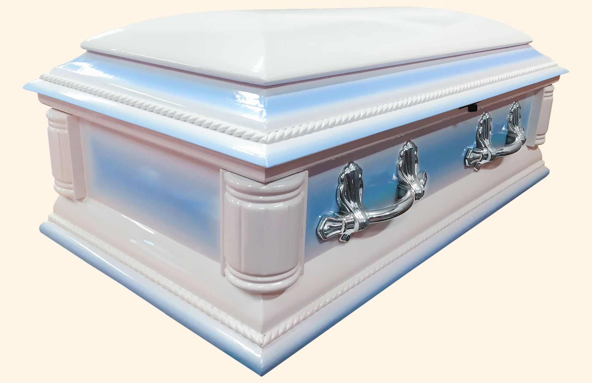 Purity Child Solid Blue American Wood Casket