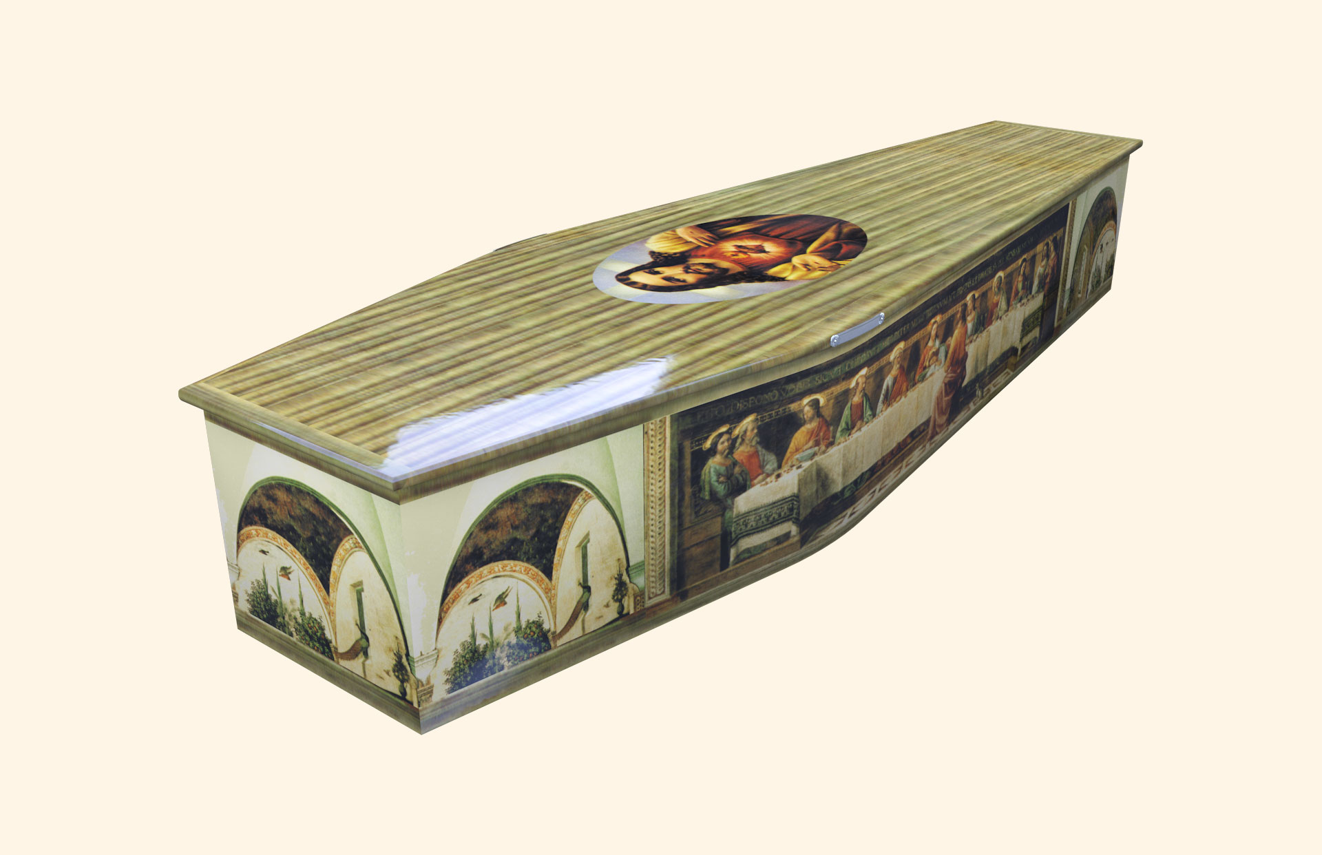 Last Supper Traditional coffin
