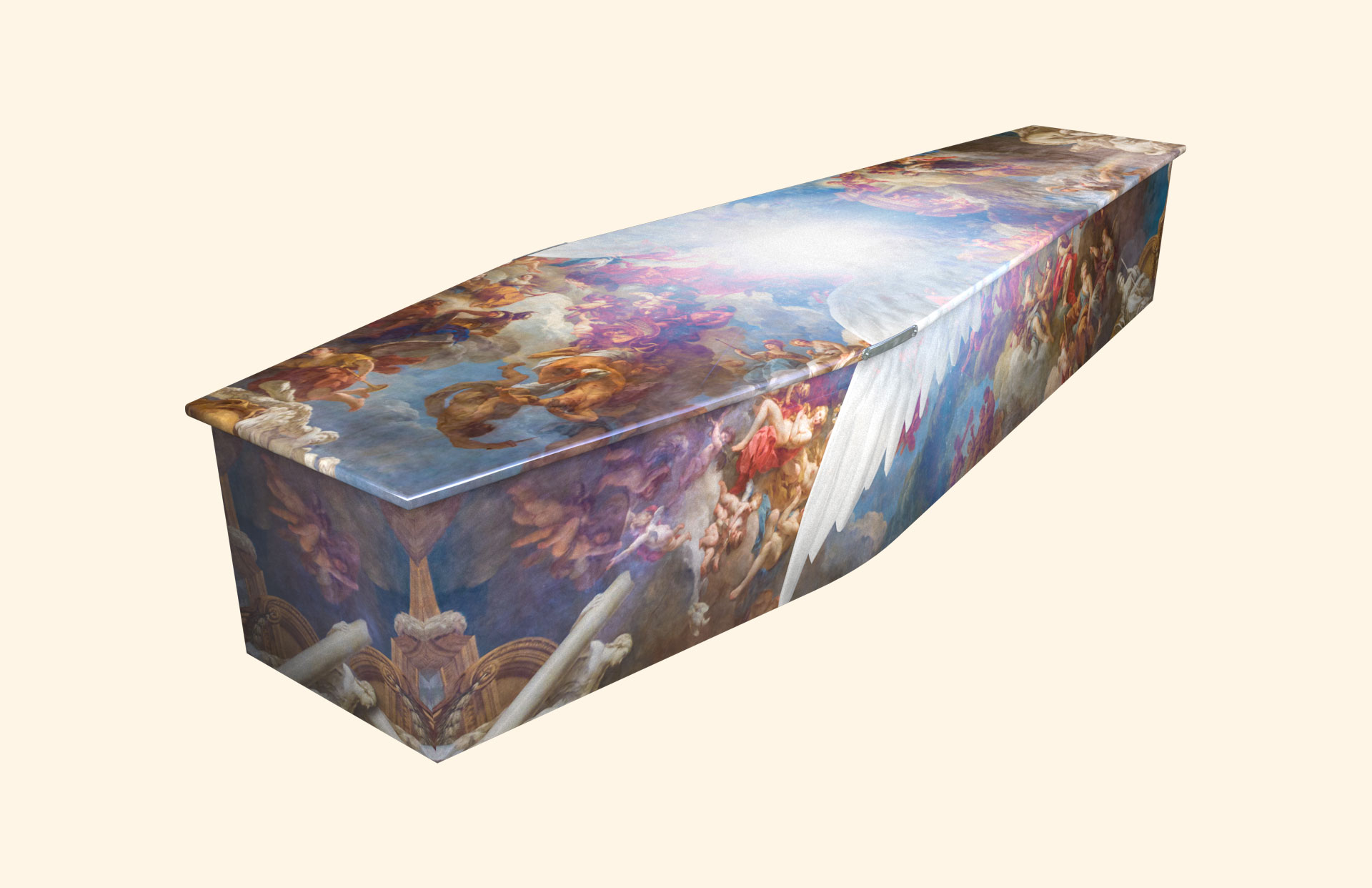 Vatican Wings traditional coffin