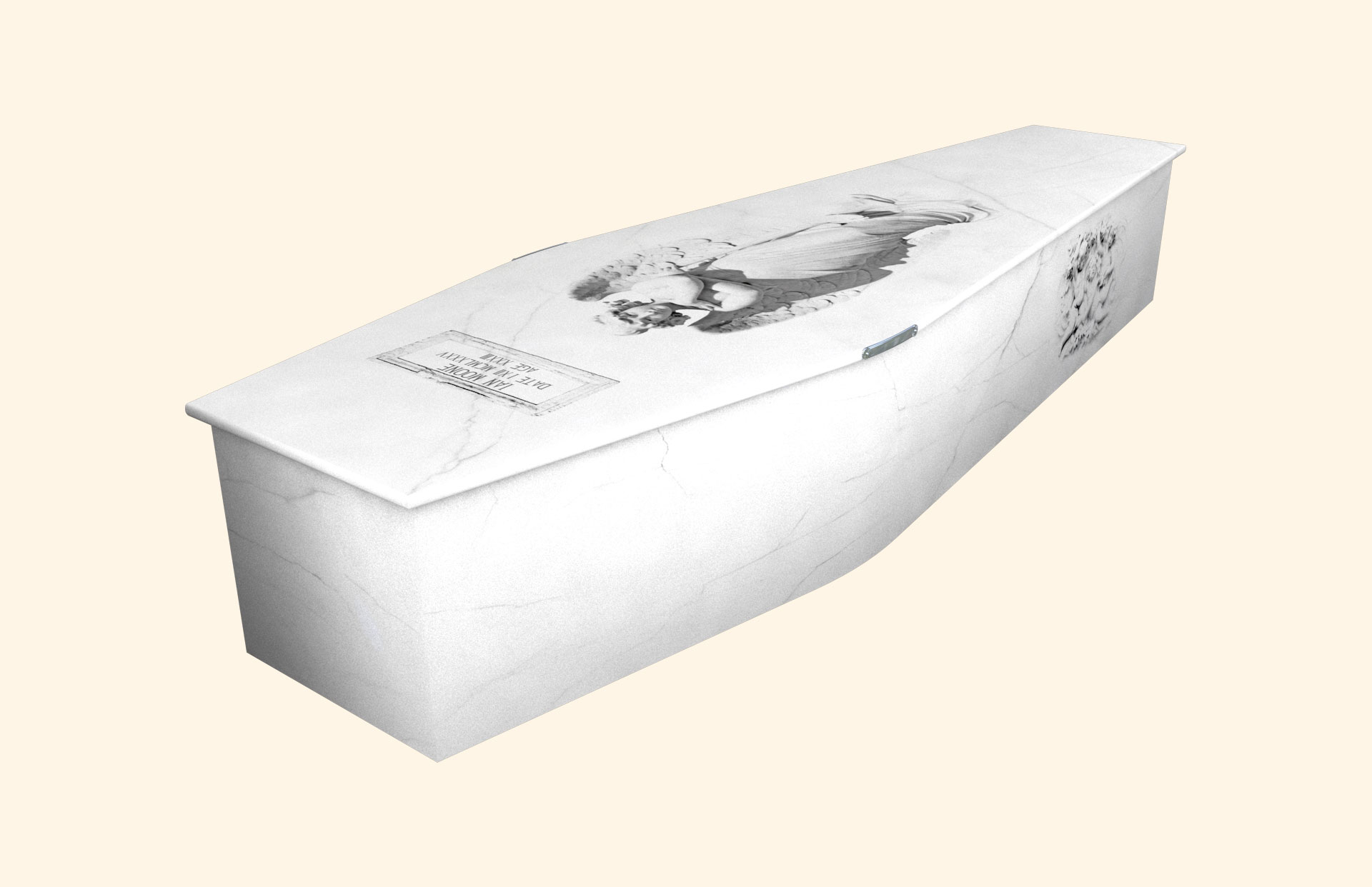 Marble Angel traditional coffin