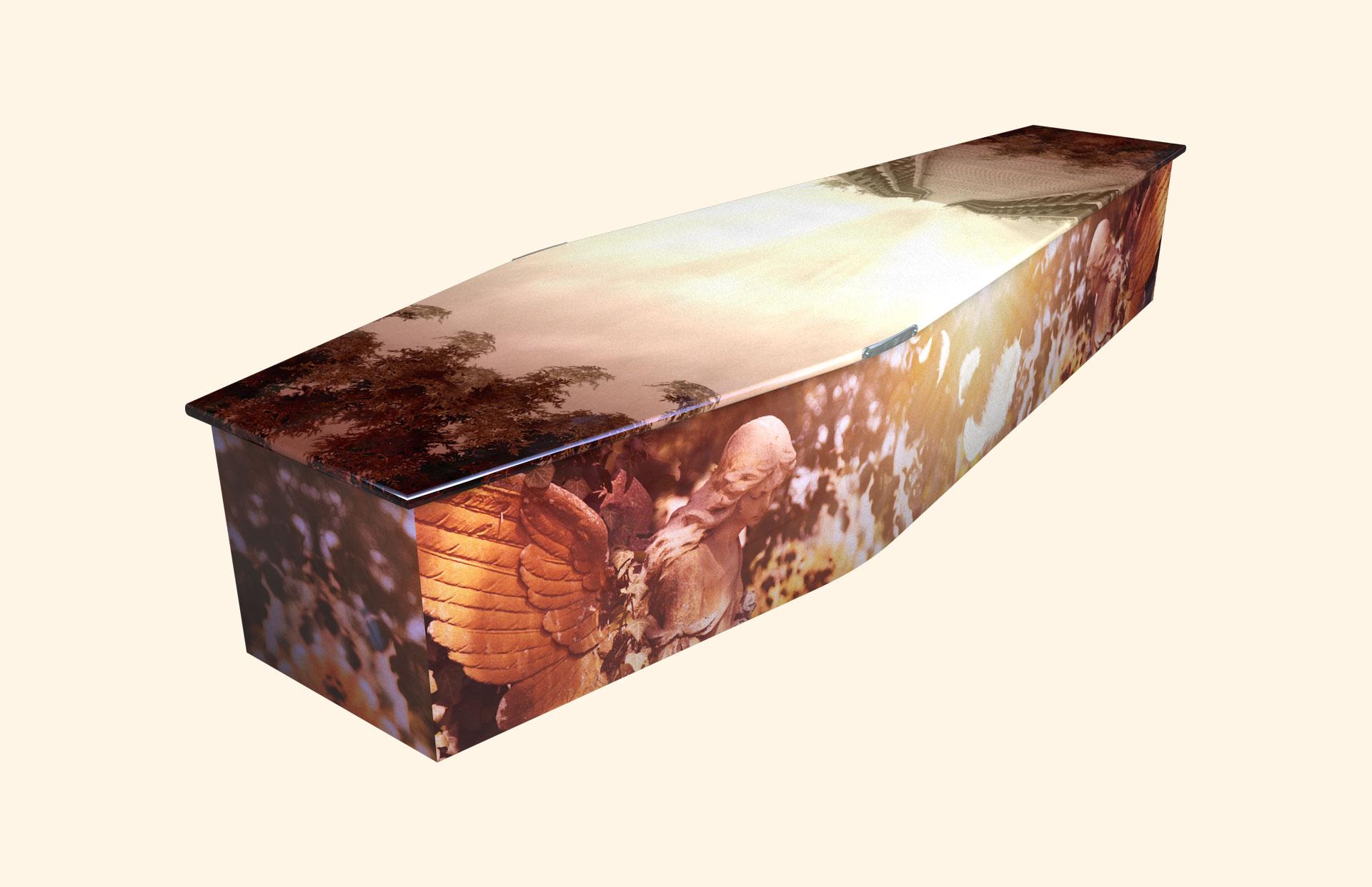 Heavens Door traditional coffin