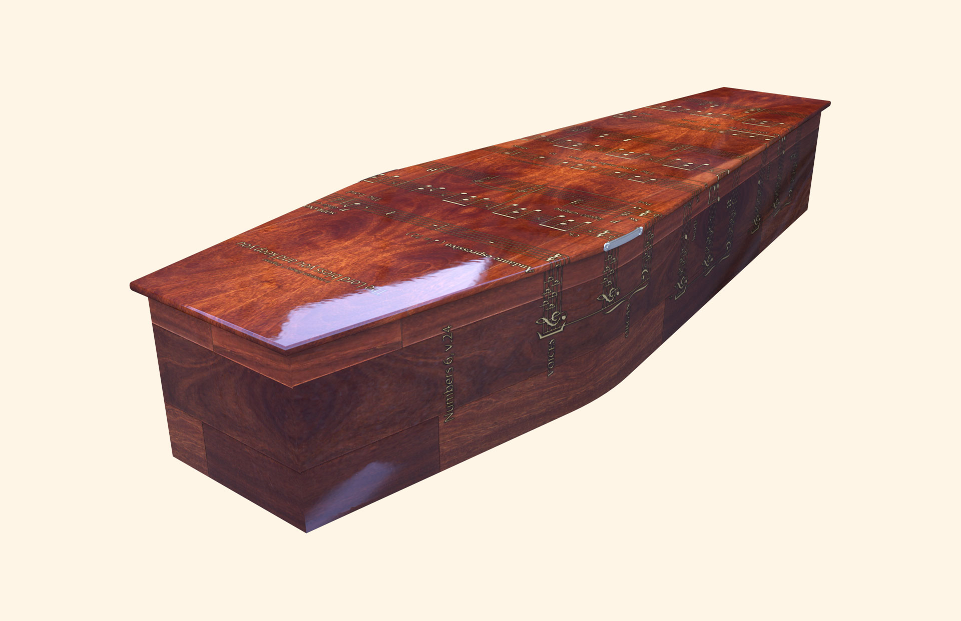 Lord Bless You Traditional coffin