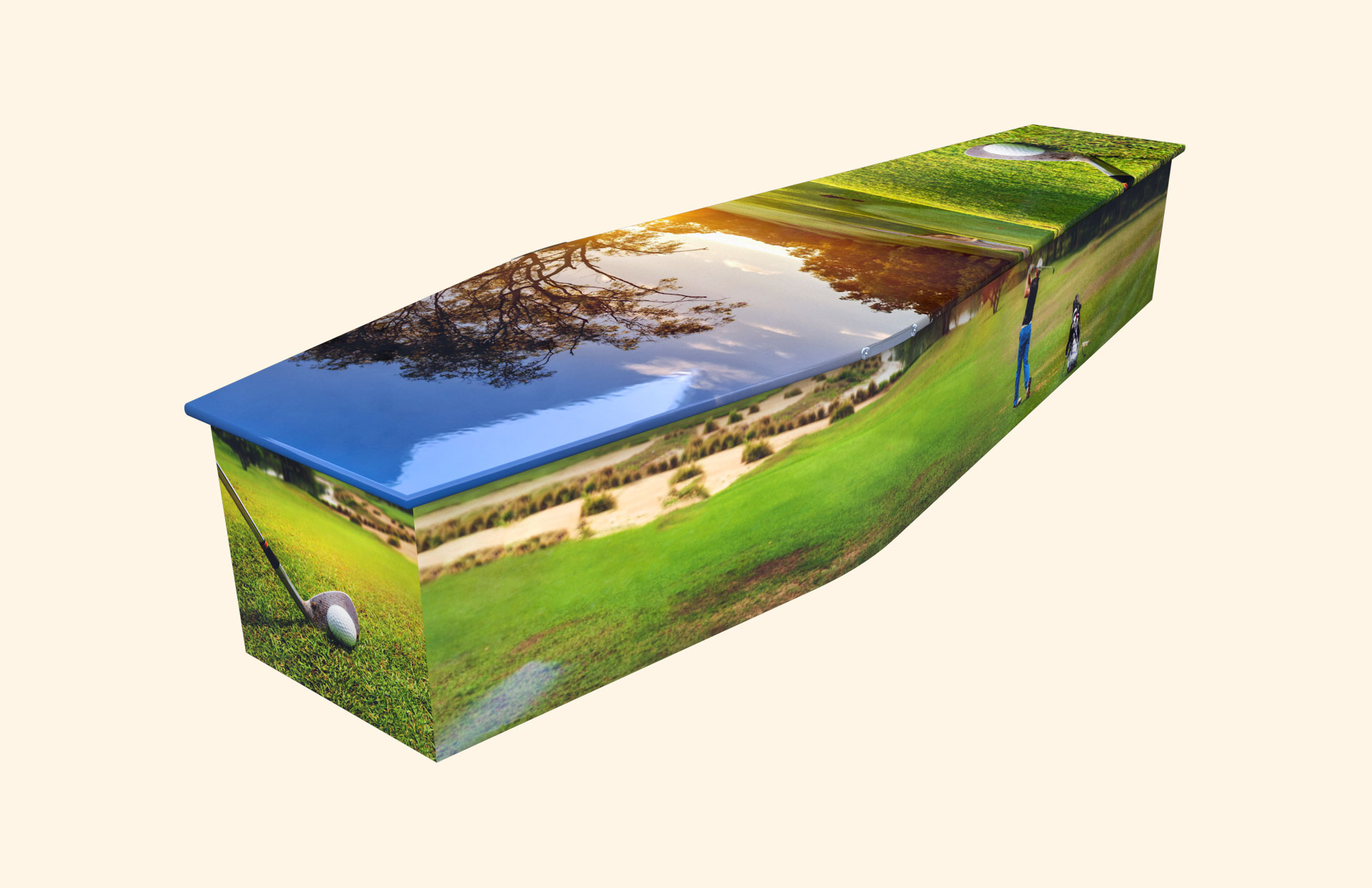 Hole in One traditional coffin