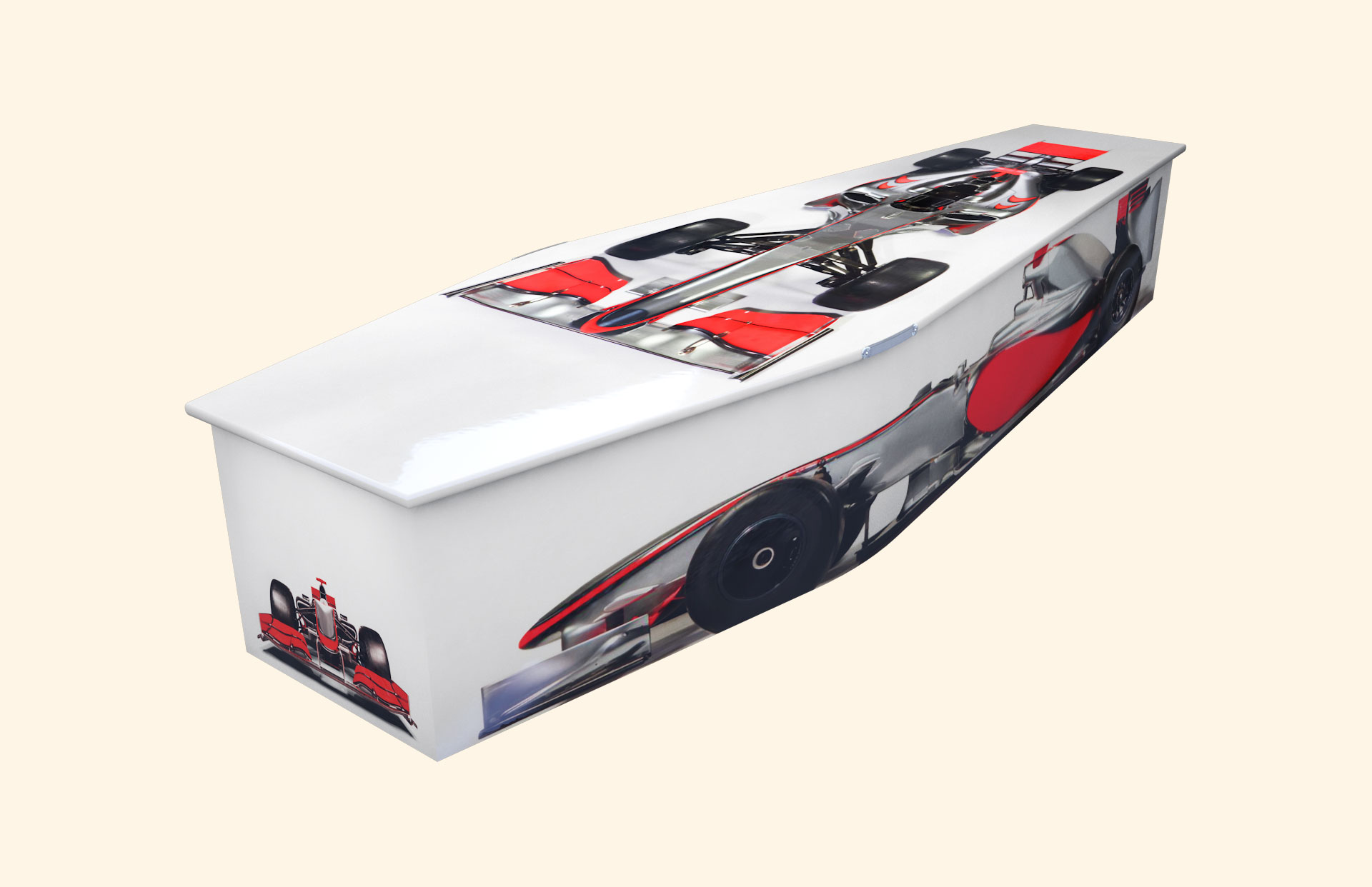 Racing Moments Red Traditional coffin