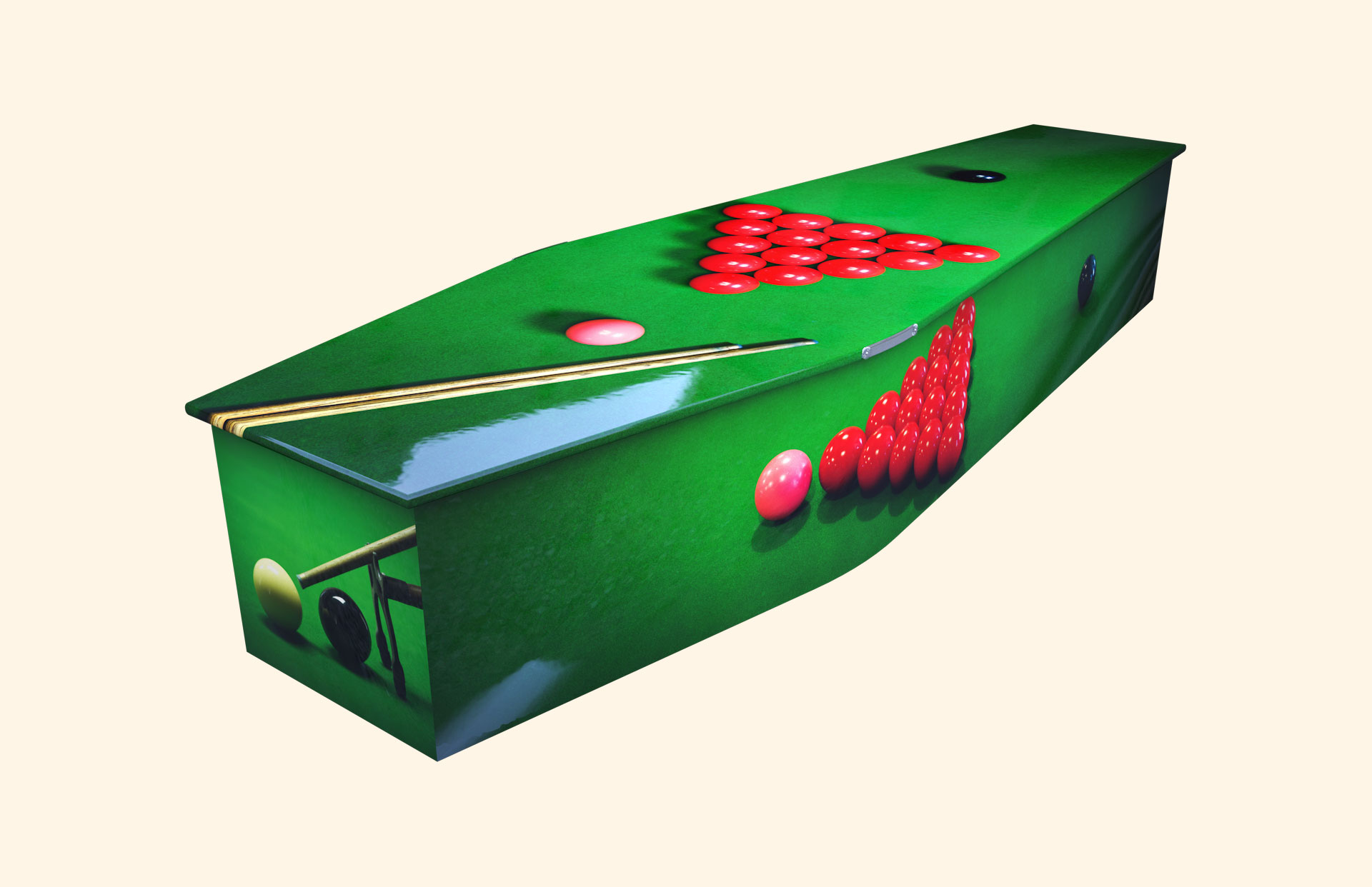 Snooker traditional coffin
