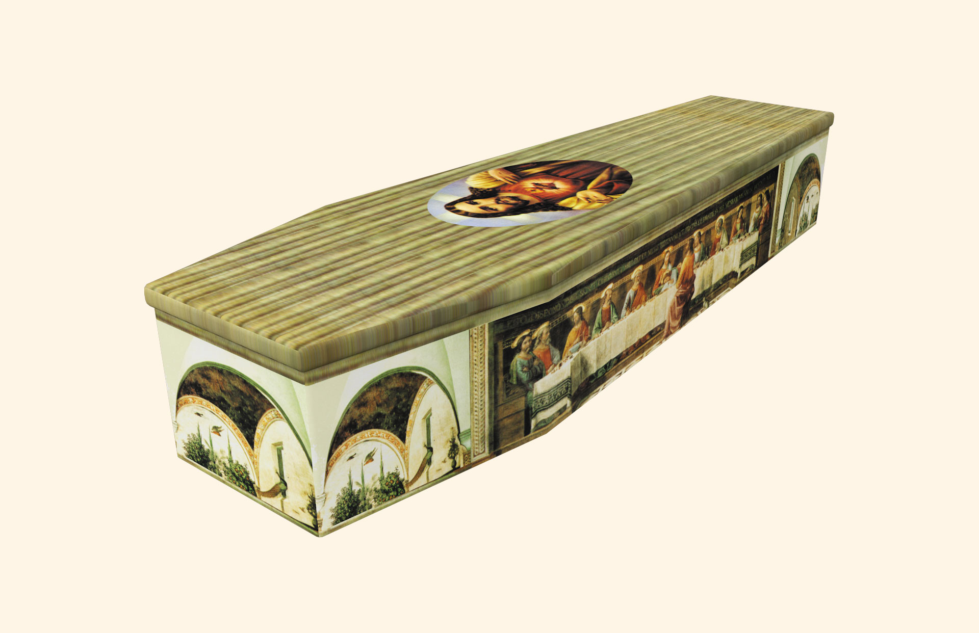 Last Supper Cardboard coffin