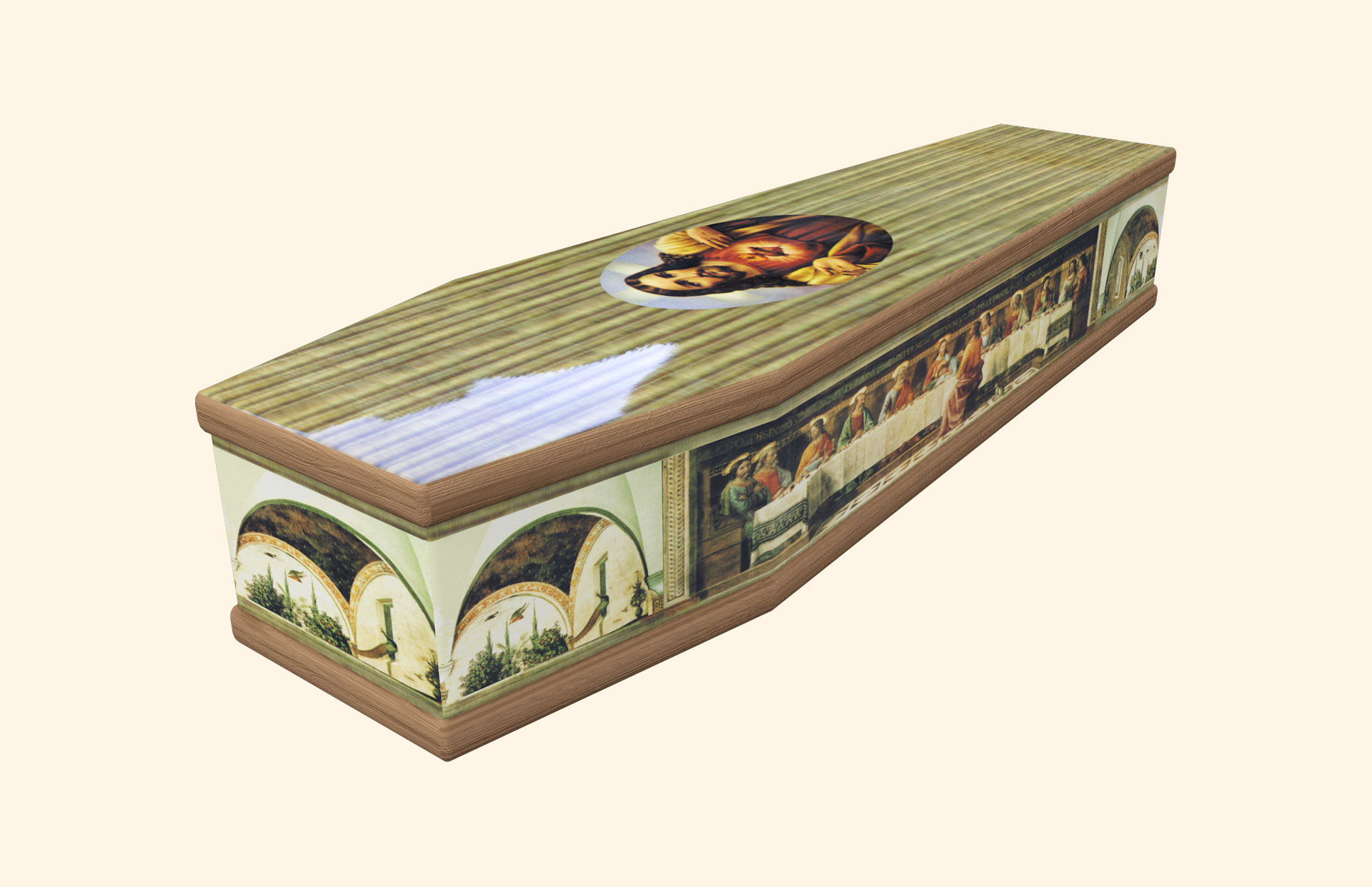 Last Supper Classic coffin