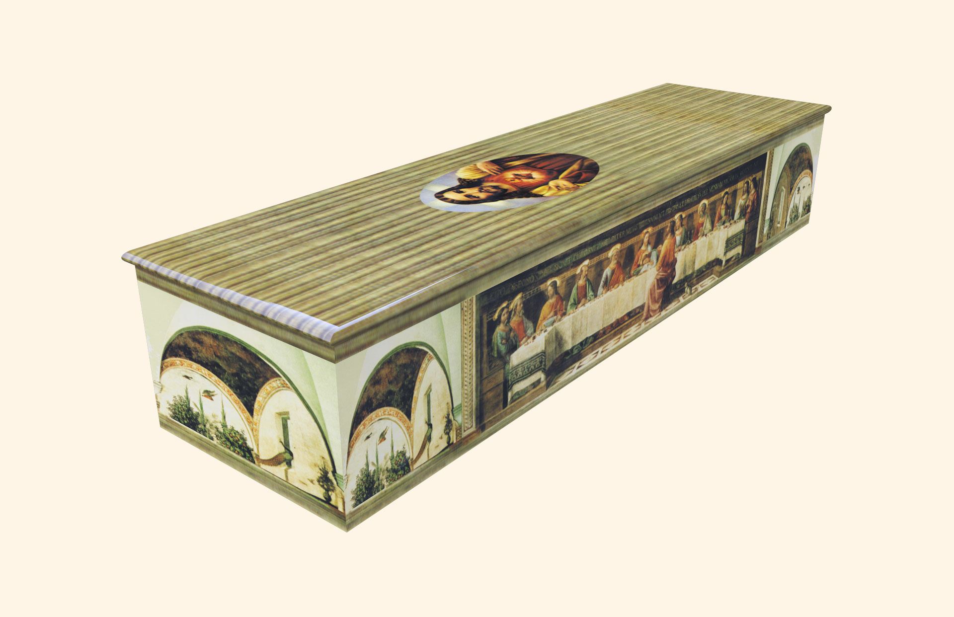 Last Supper Wooden Casket