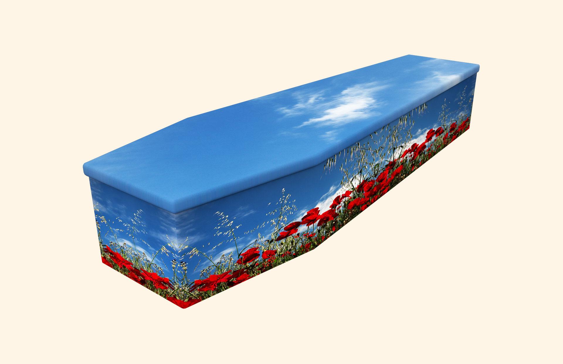 Poppy Wonder Cardboard coffin