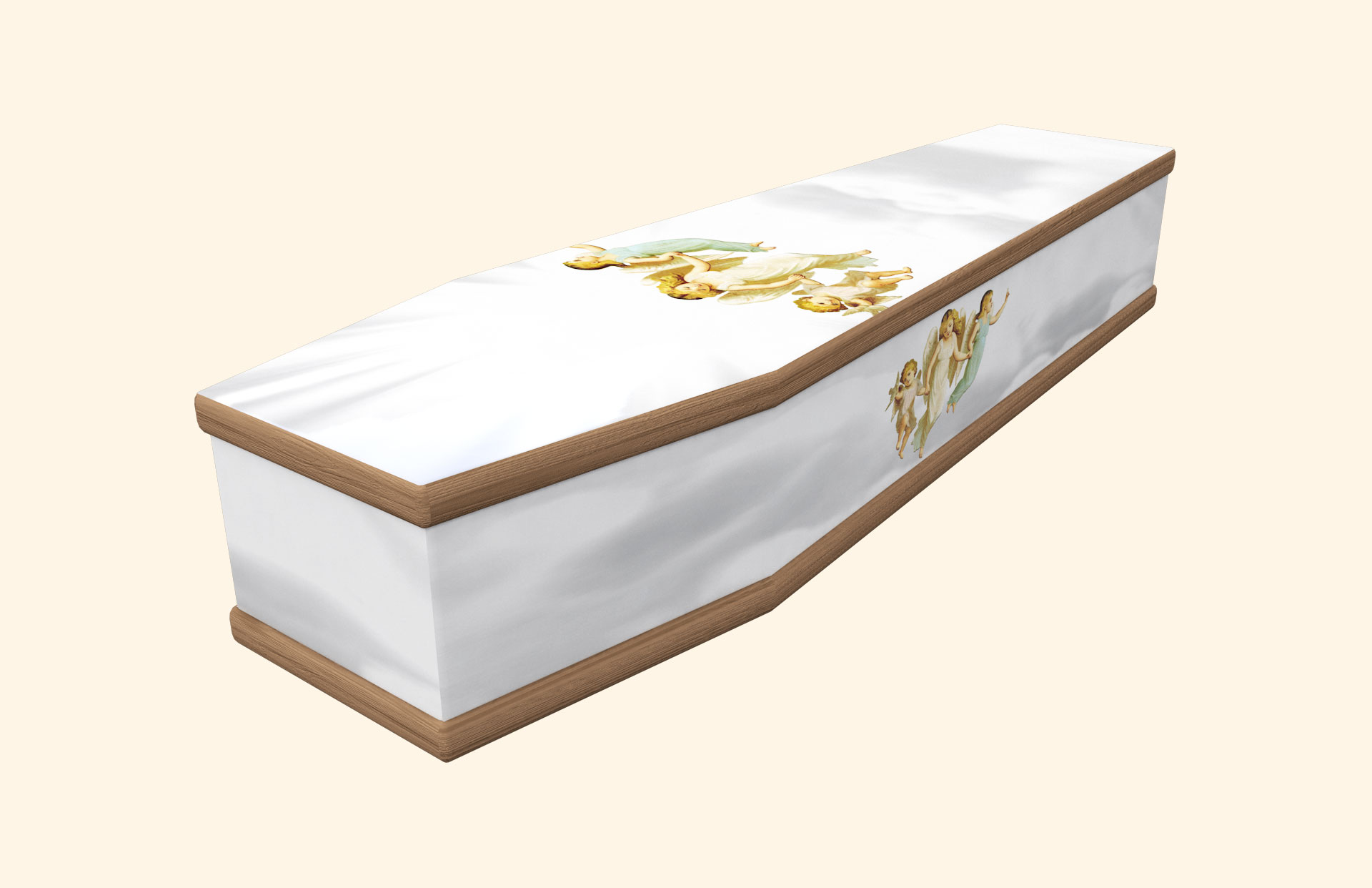 Three Angels White Classic coffin