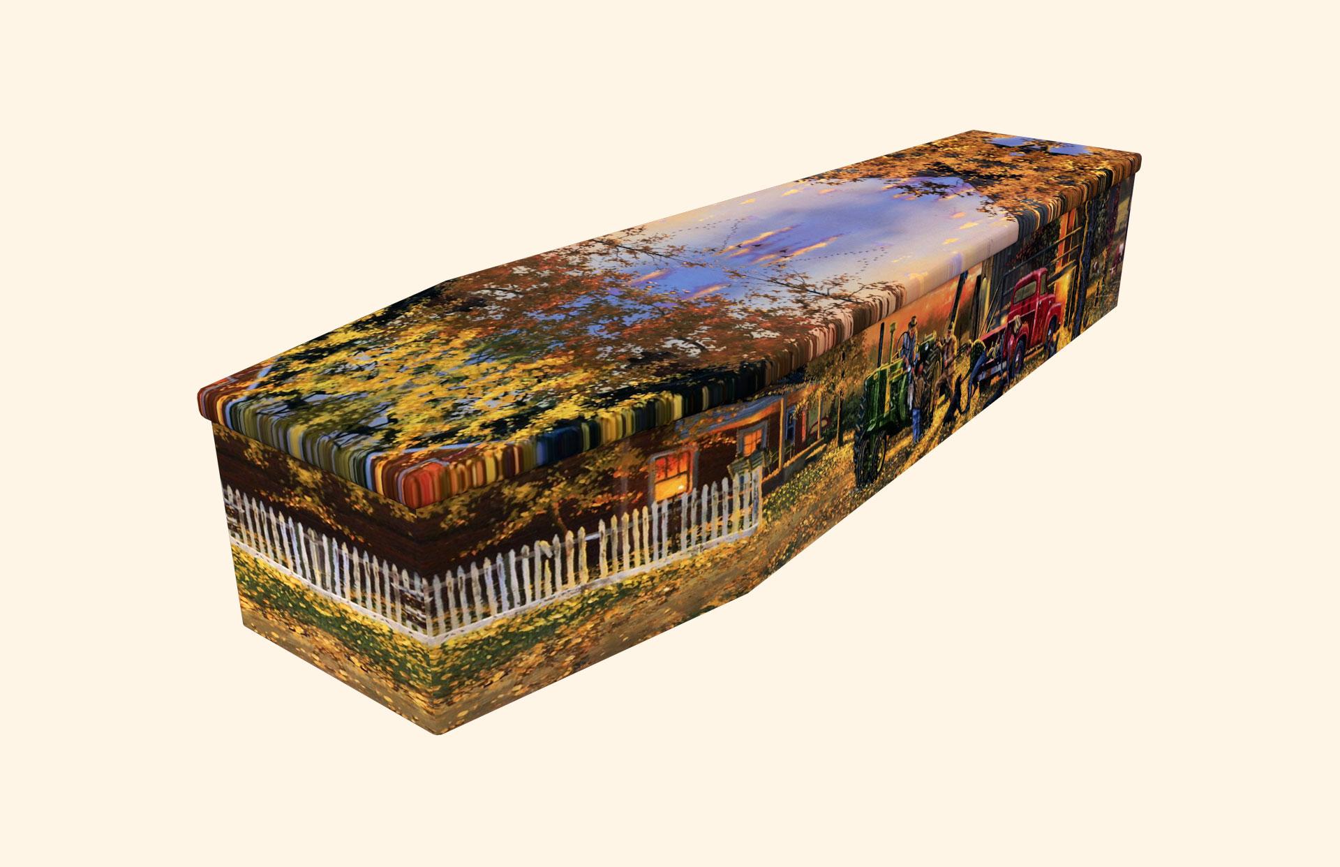 Farm Life Cardboard coffin