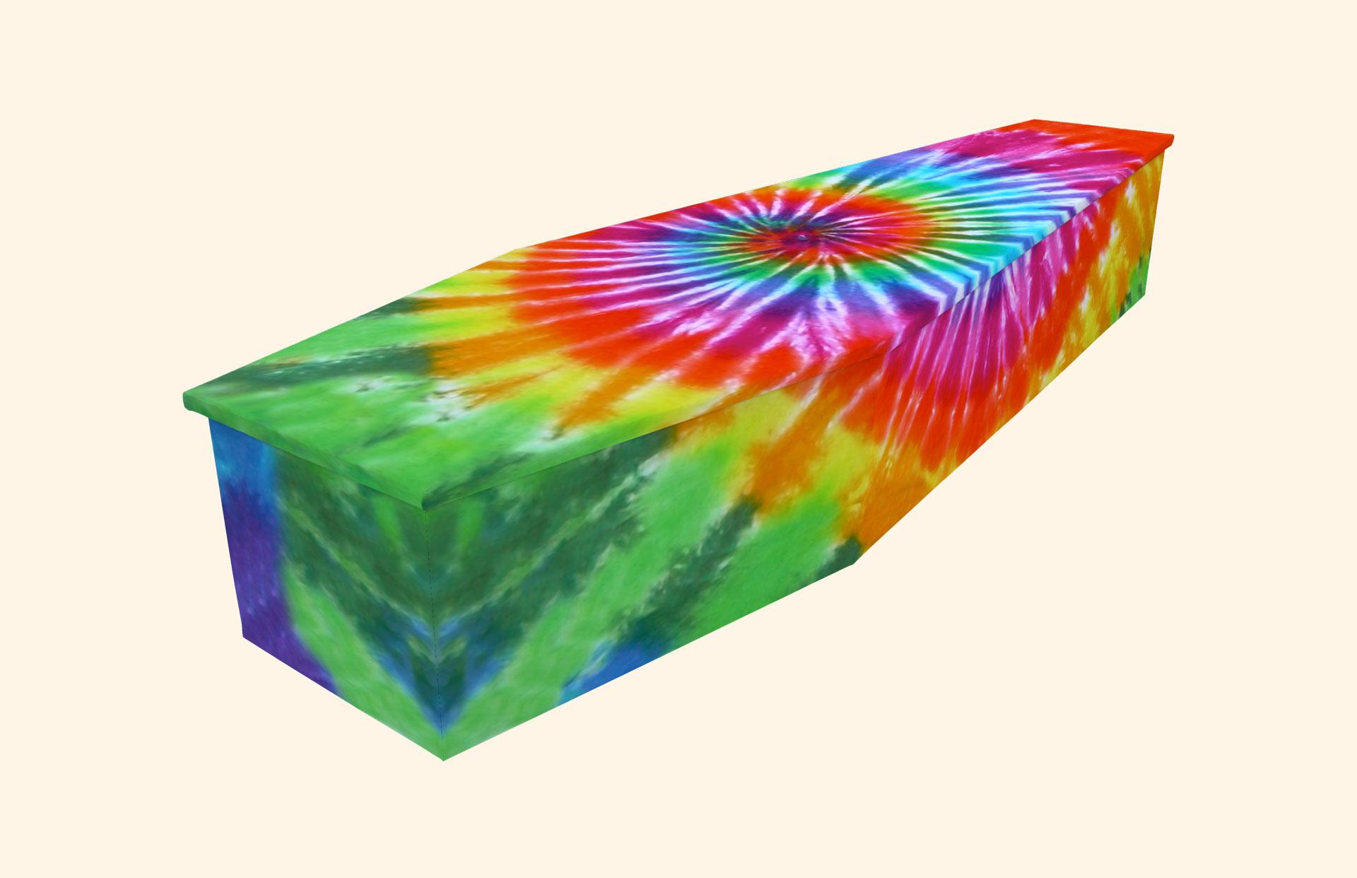 Tie Dye Cardboard coffin