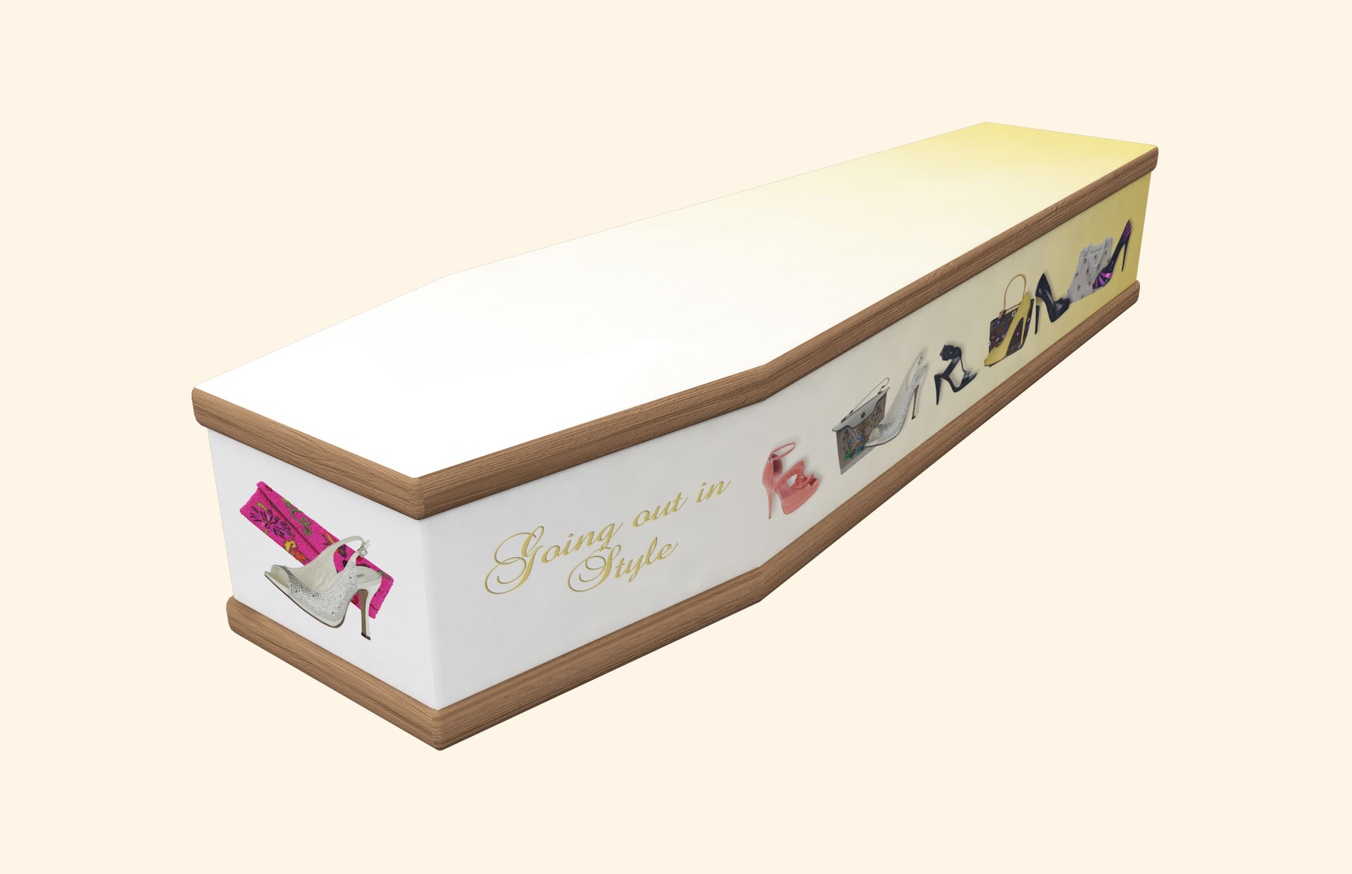 Going out in Style gold Classic coffin