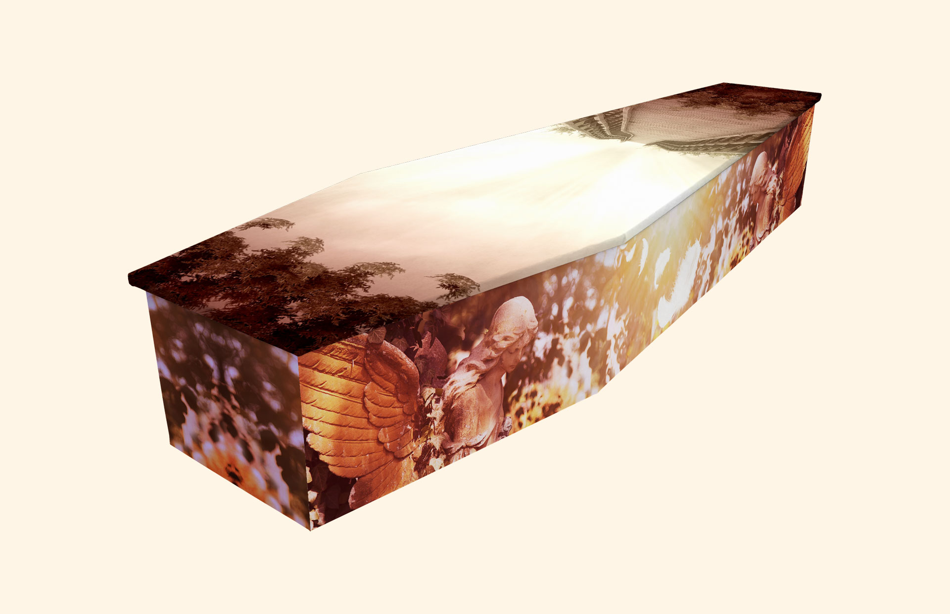 Heavens Door cardboard coffin
