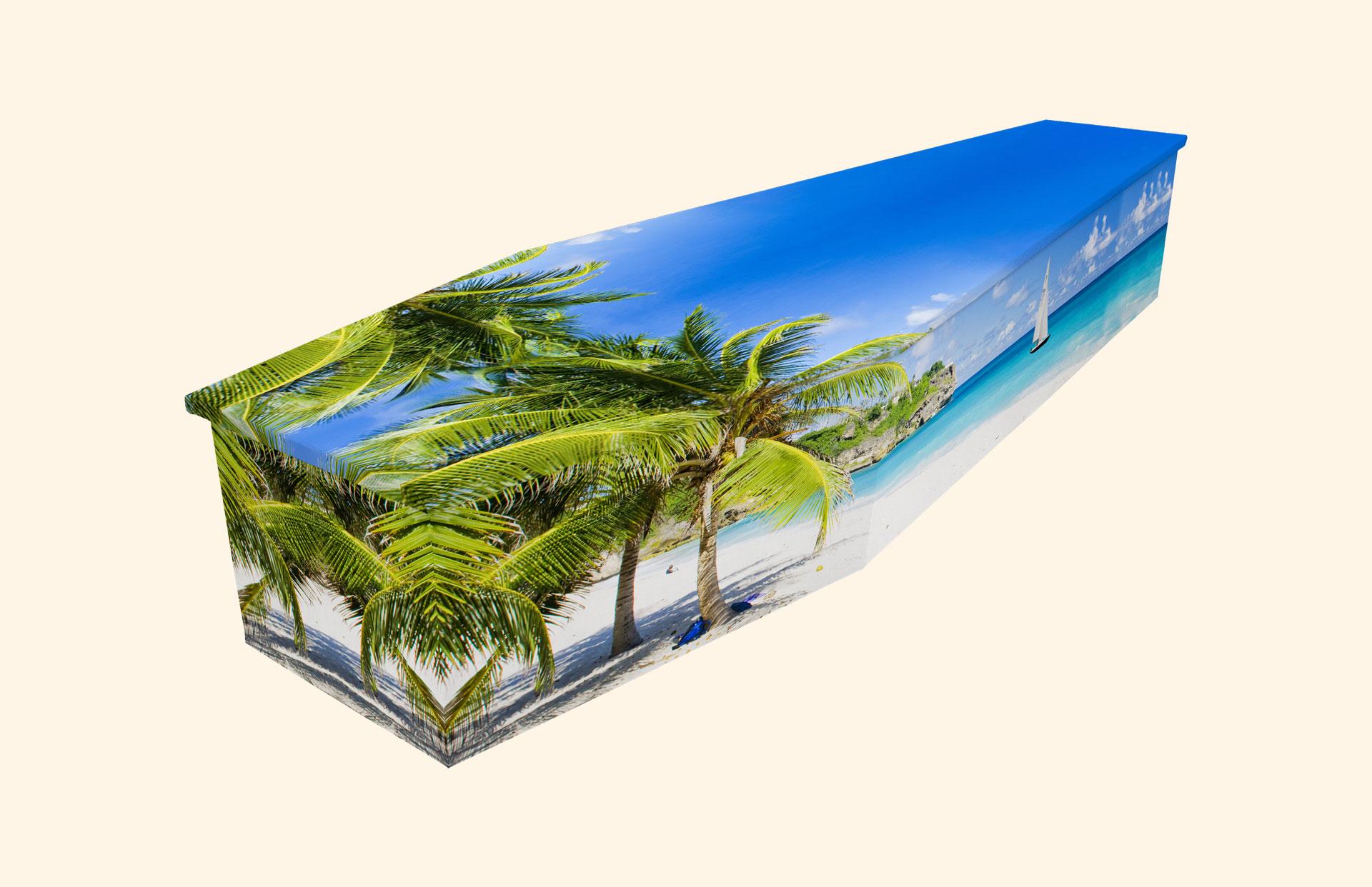 Bright Barbados Cardboard coffin