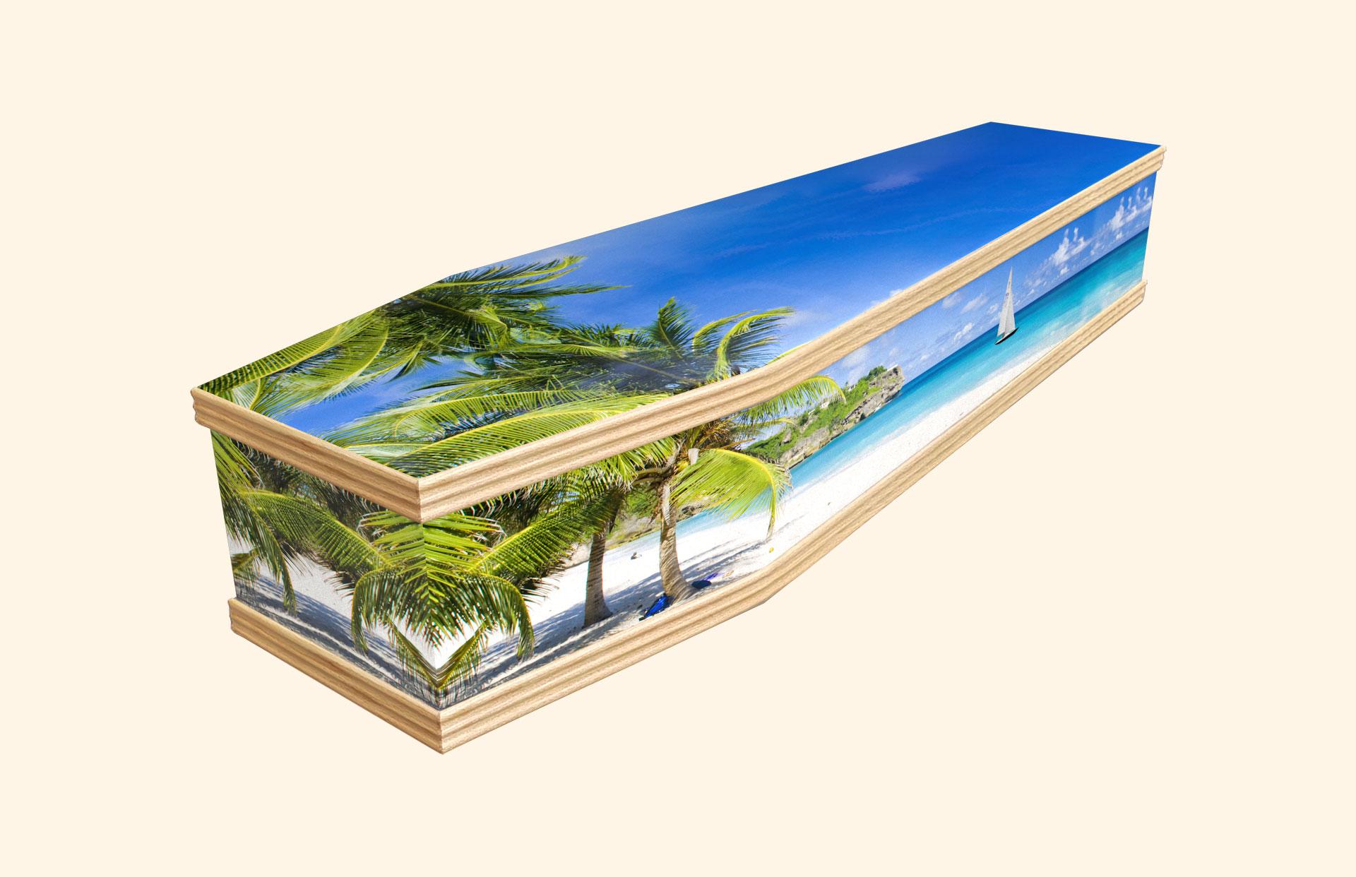Bright Barbados Classic coffin