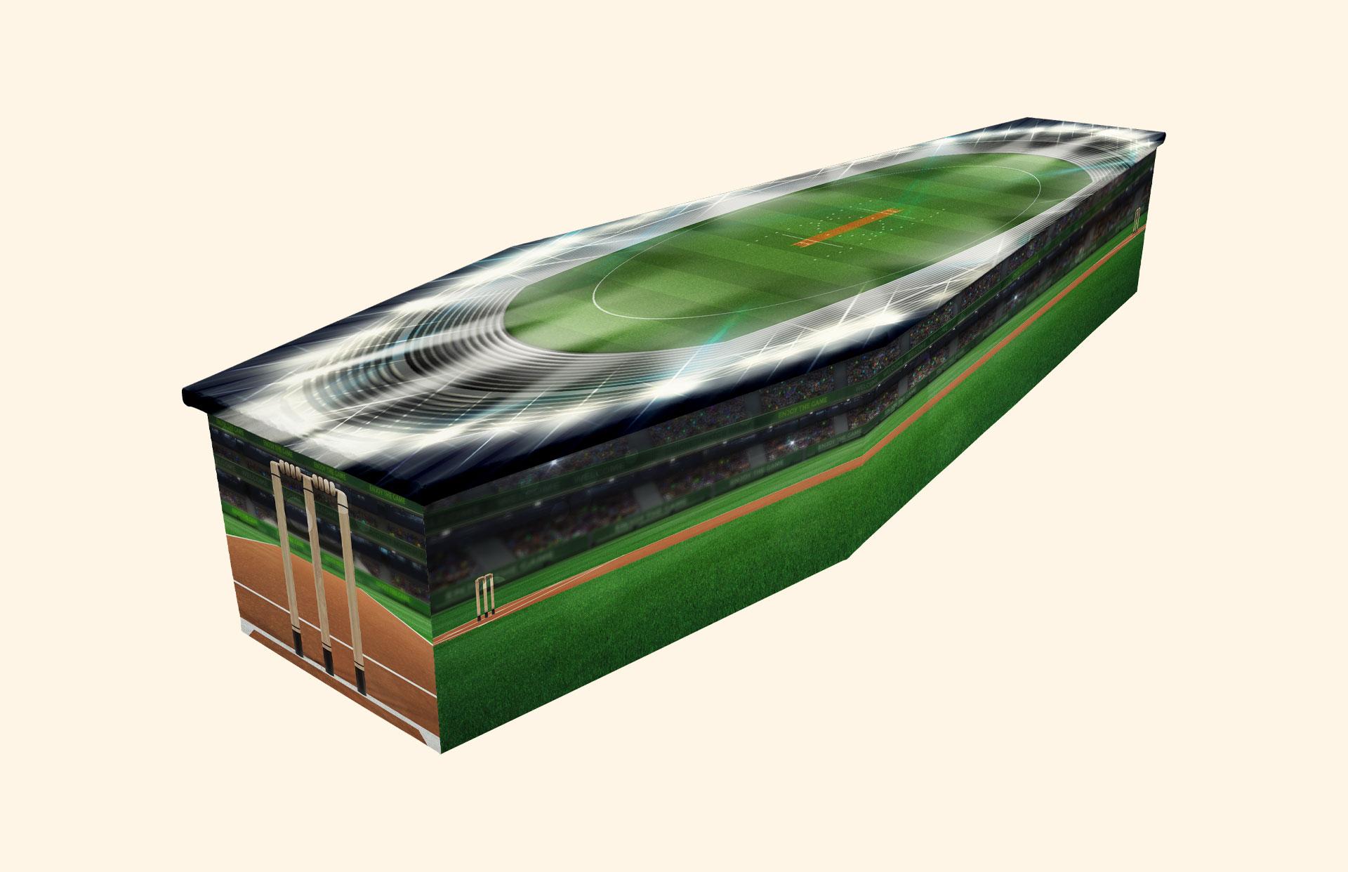 Howzat! Cardboard coffin