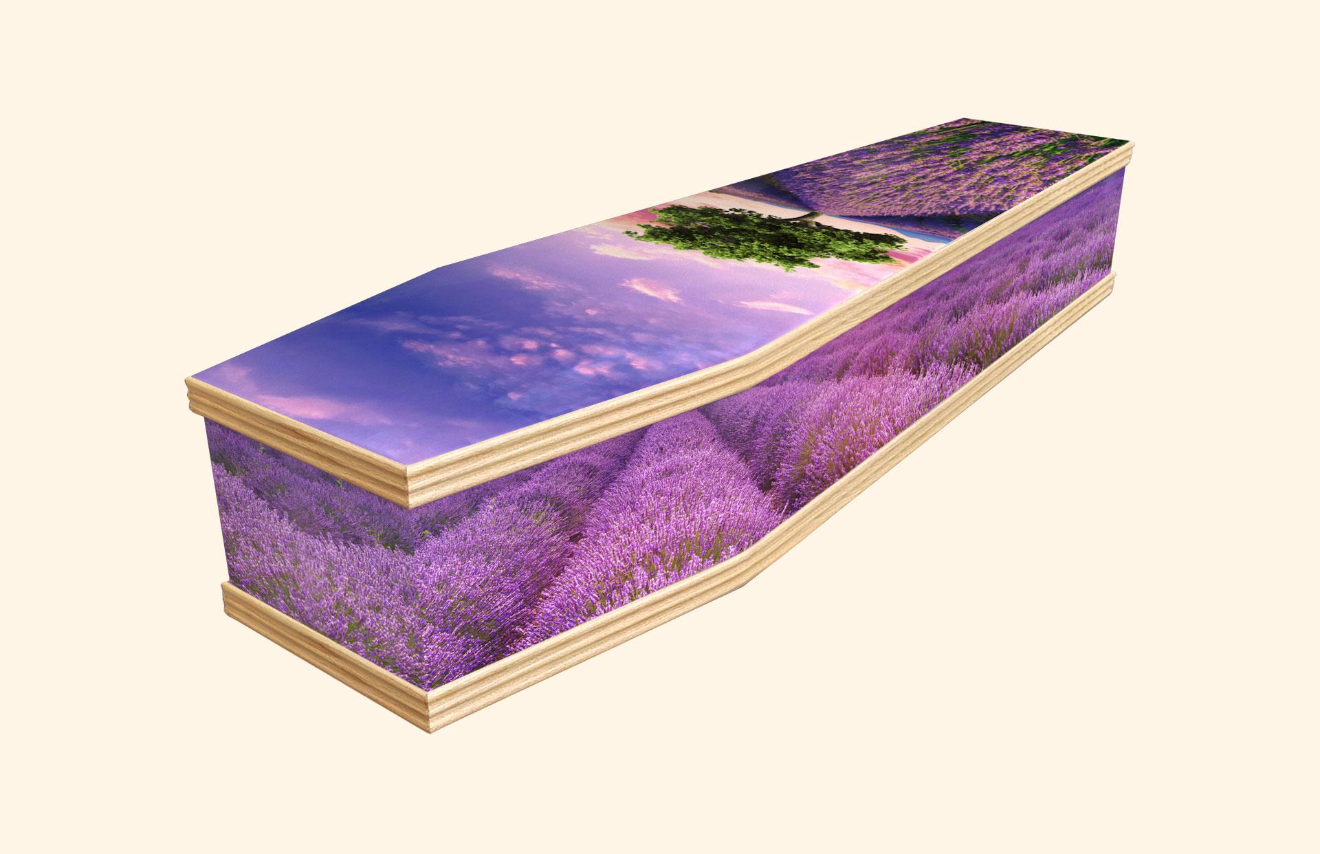 Lavender Field Classic coffin