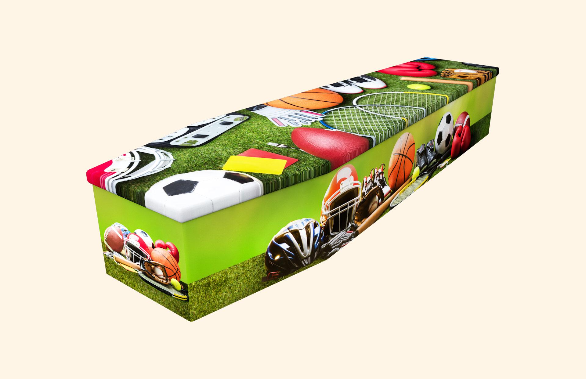 Just Sports Cardboard coffin