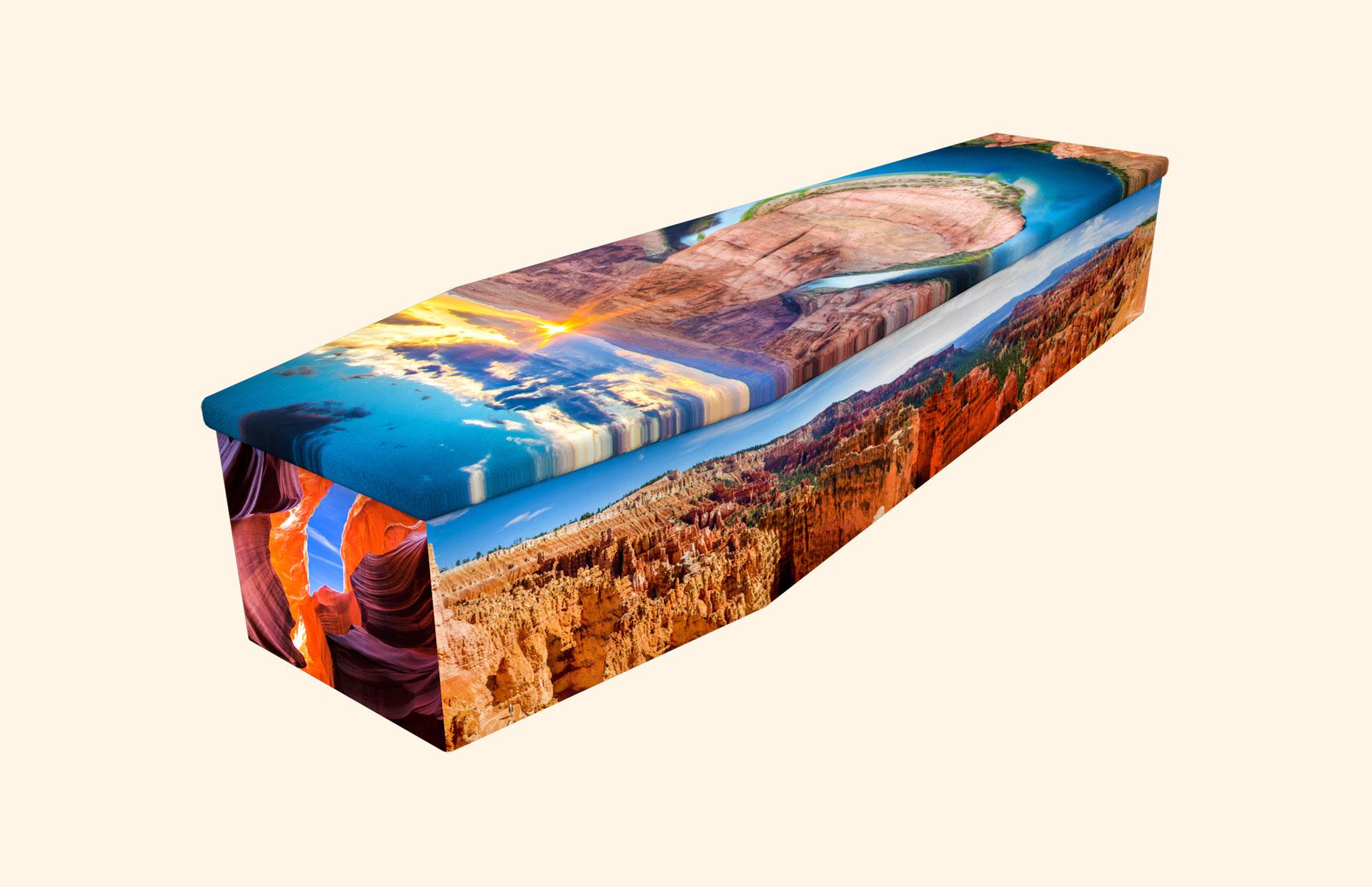 Grand Canyon cardboard coffin