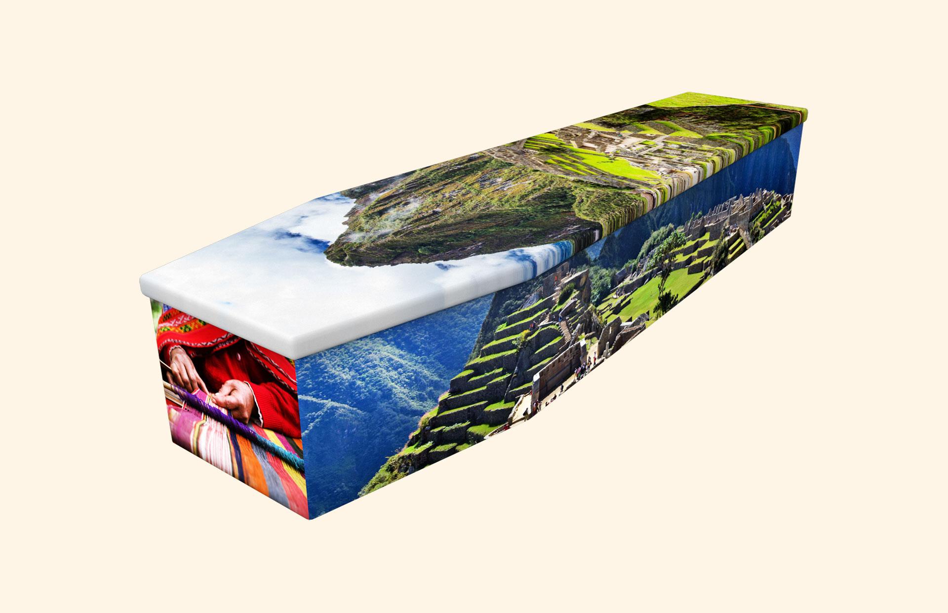 Machu Picchu cardboard coffin