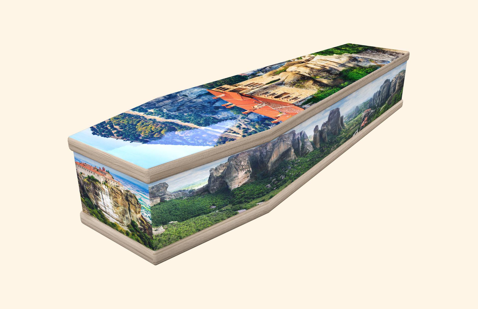 Monasteries of Meteora classic coffin
