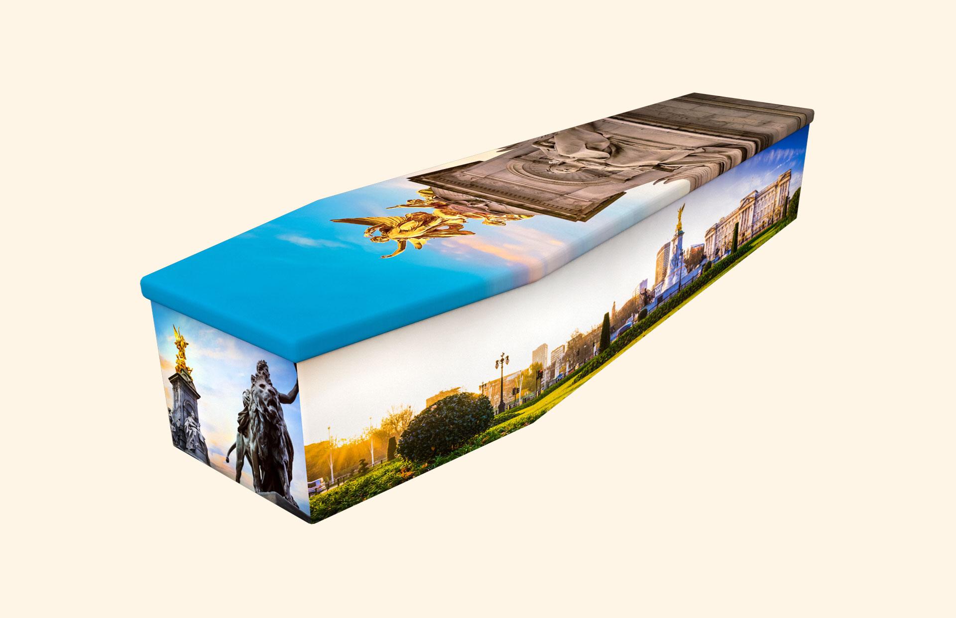 Buckingham Palace cardboard coffin