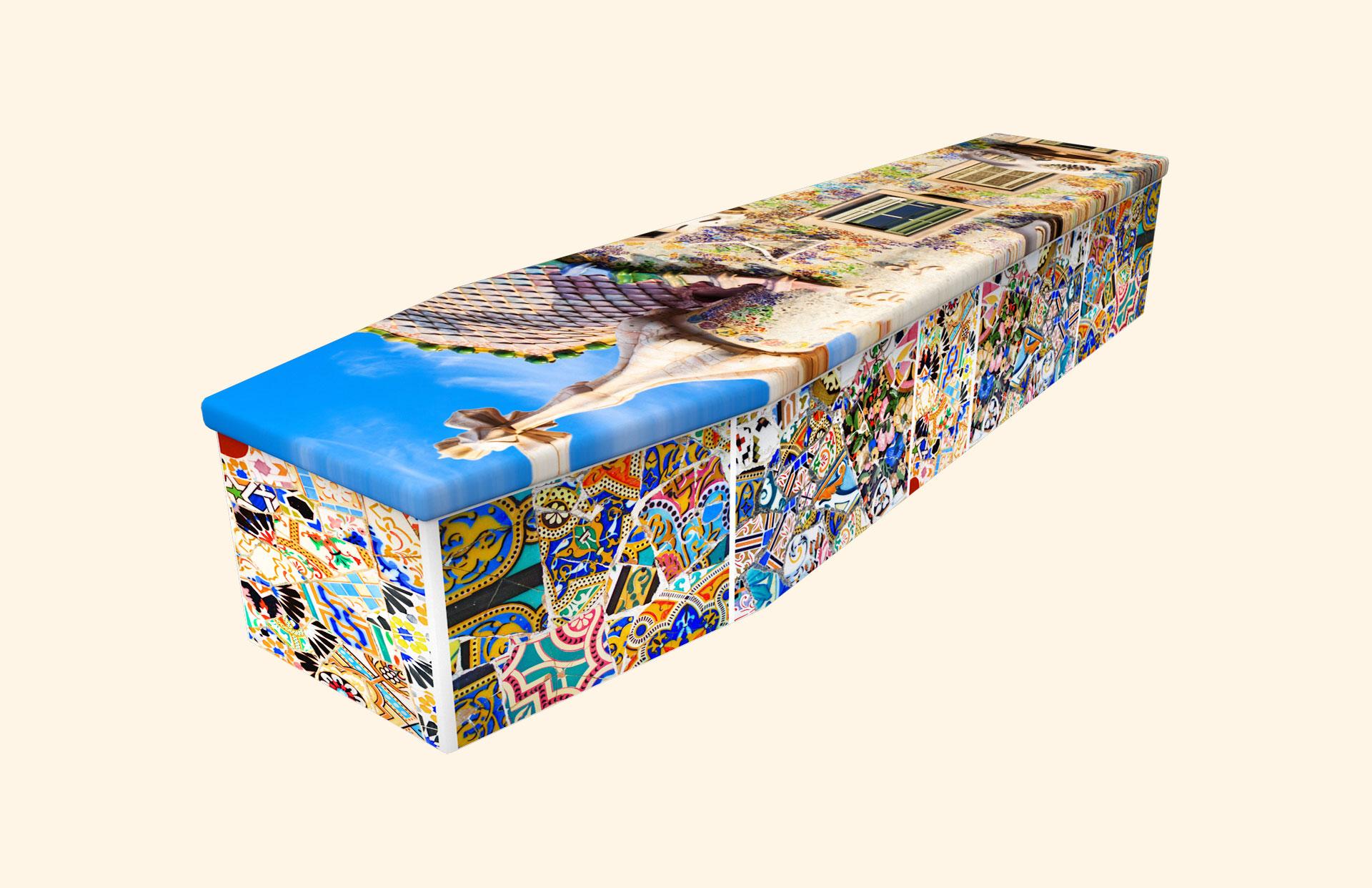 Casa Batllo carboard coffin
