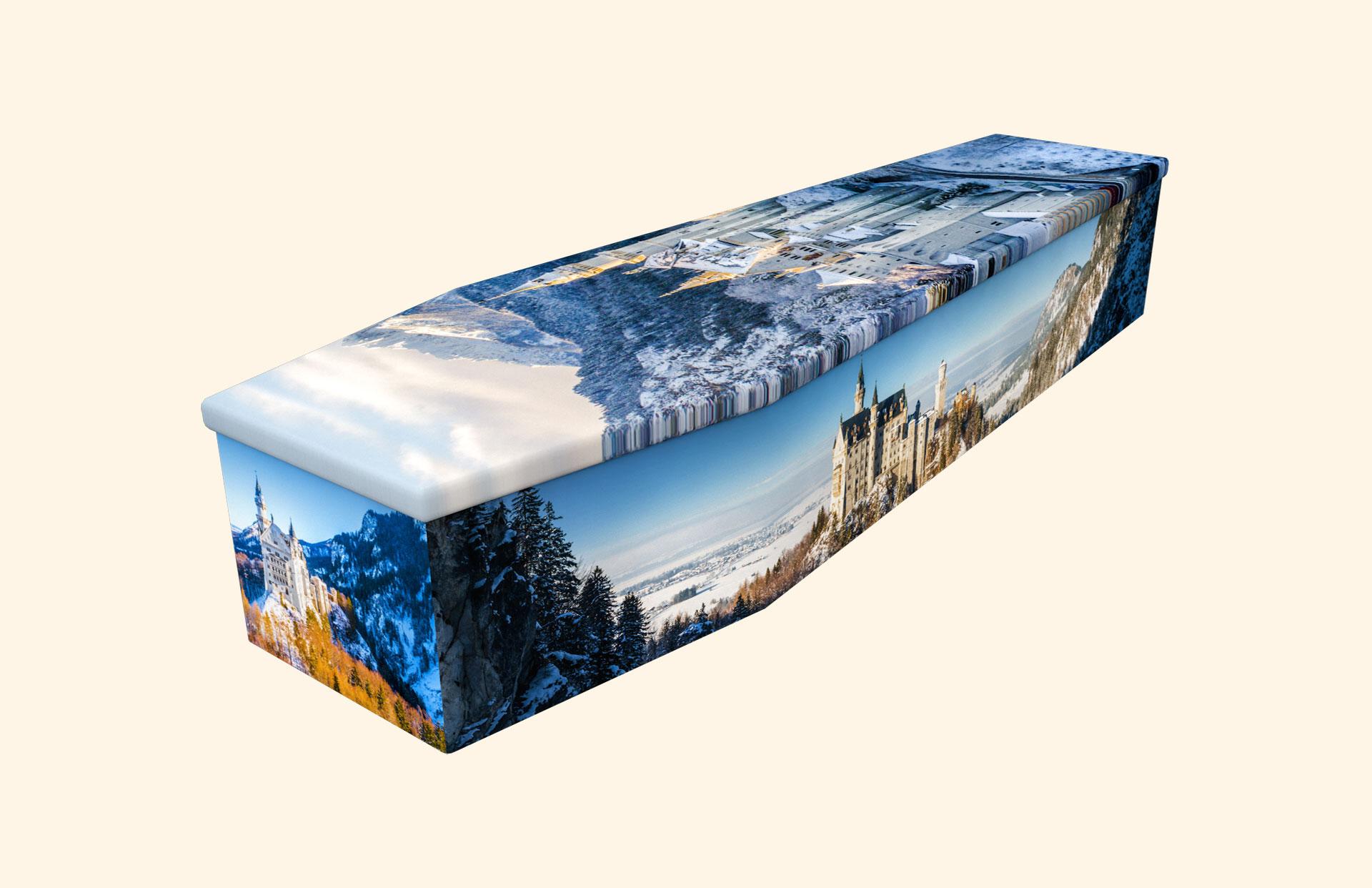 Neuschwanstein Castle cardboard coffin