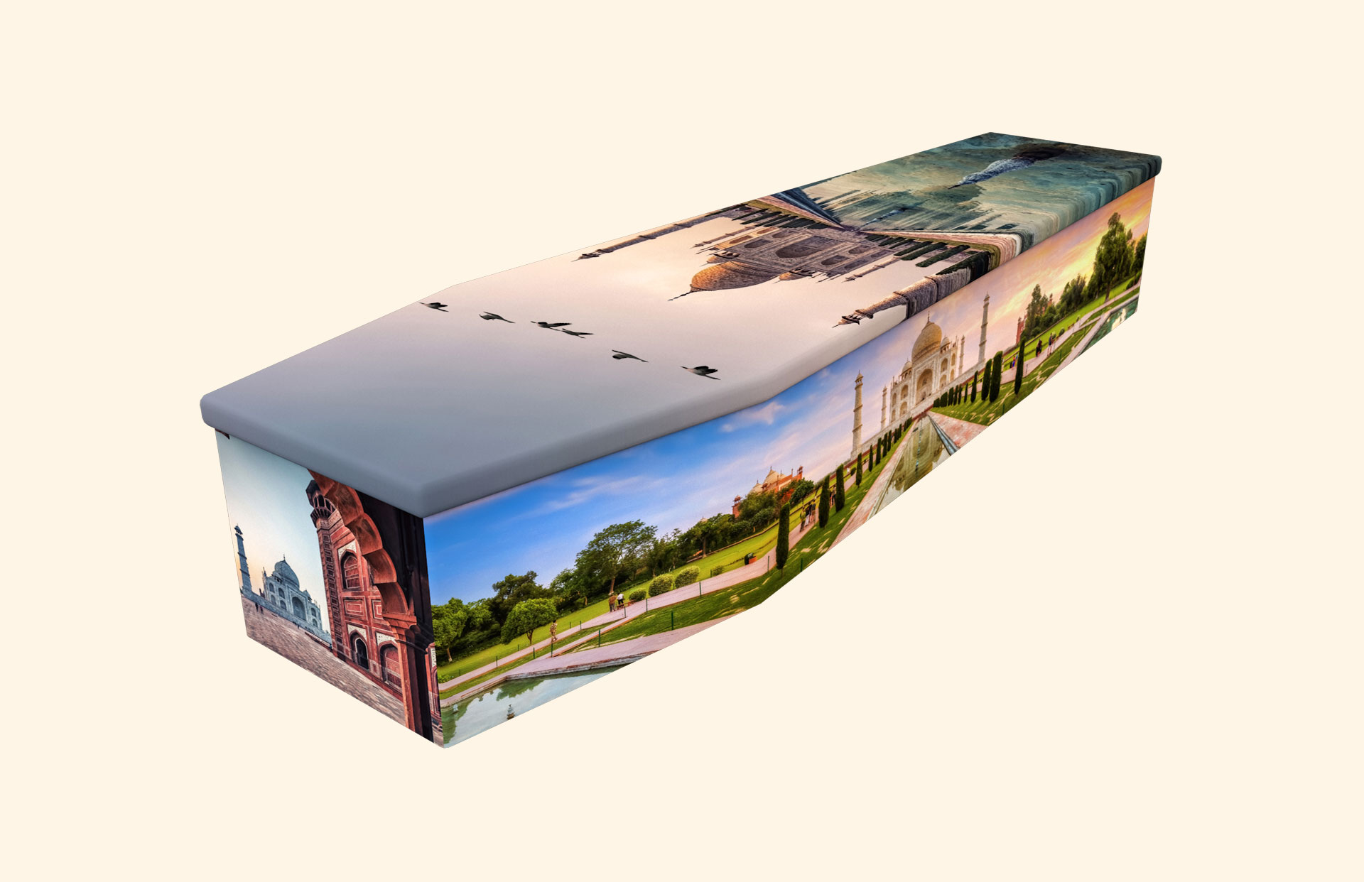 Taj Mahal cardboard coffin