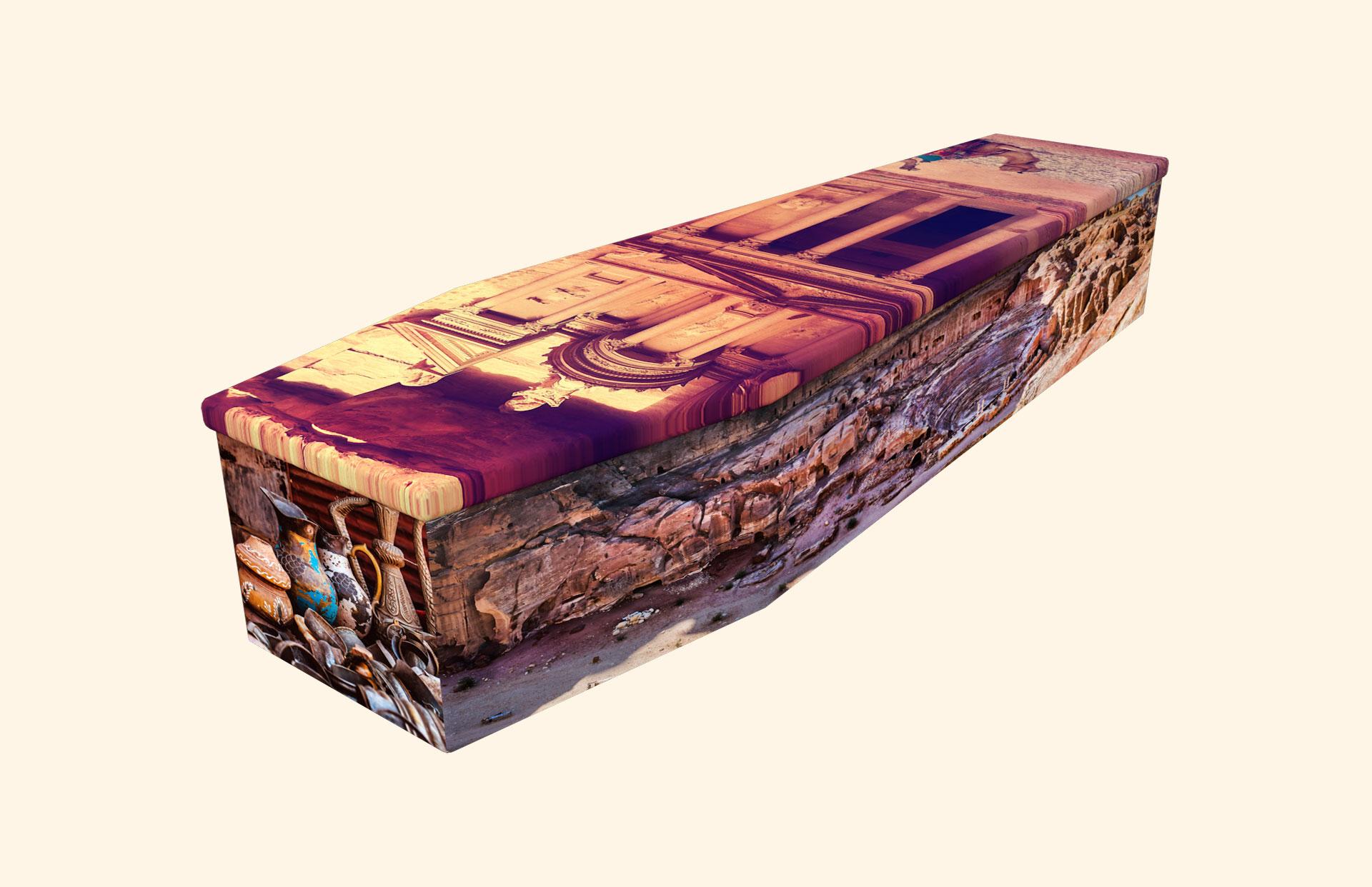 Petra the Lost City cardboard coffin