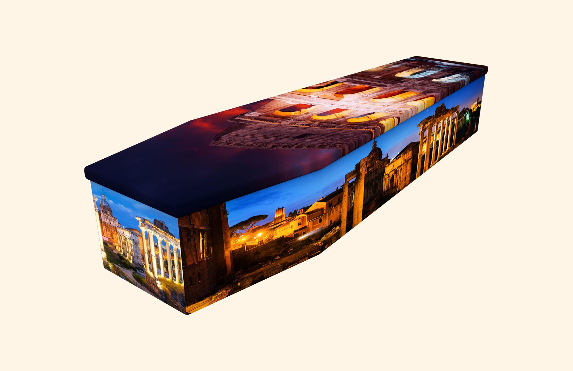 Roman Forum & Colosseum cardboard coffin