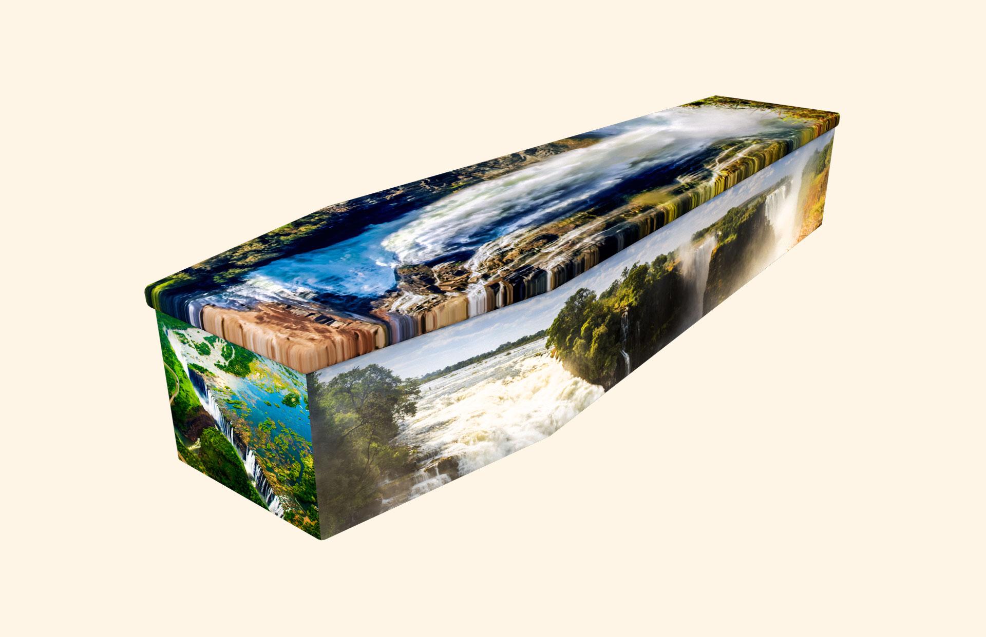 Victoria Falls cardboard coffin
