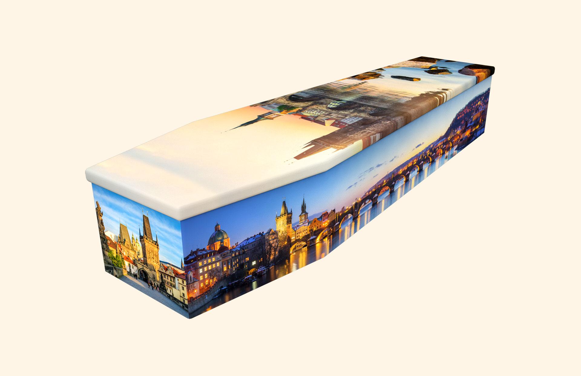 Charles Bridge cardboard coffin