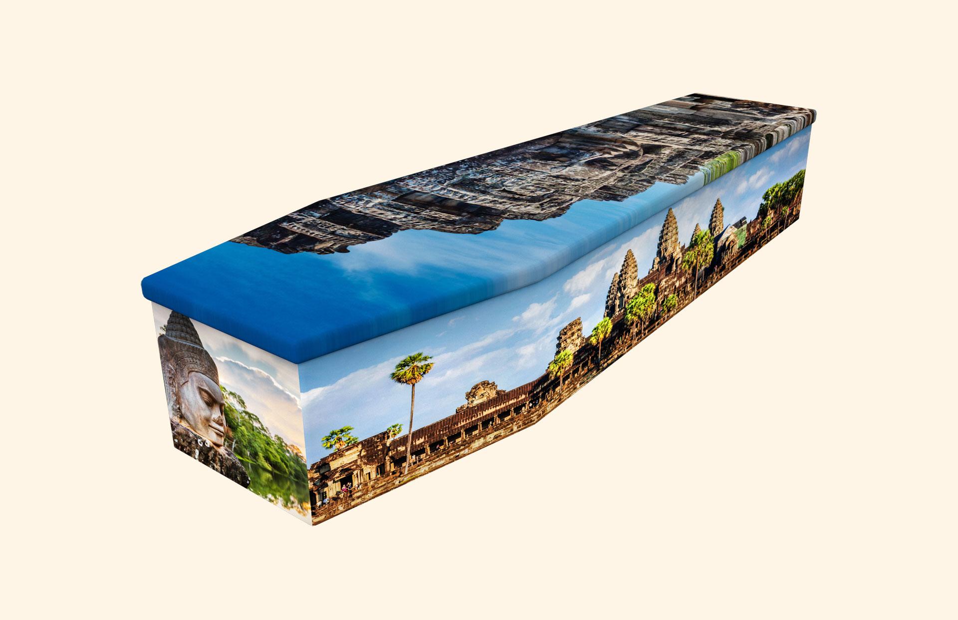 Angkor Cambodia cardboard coffin