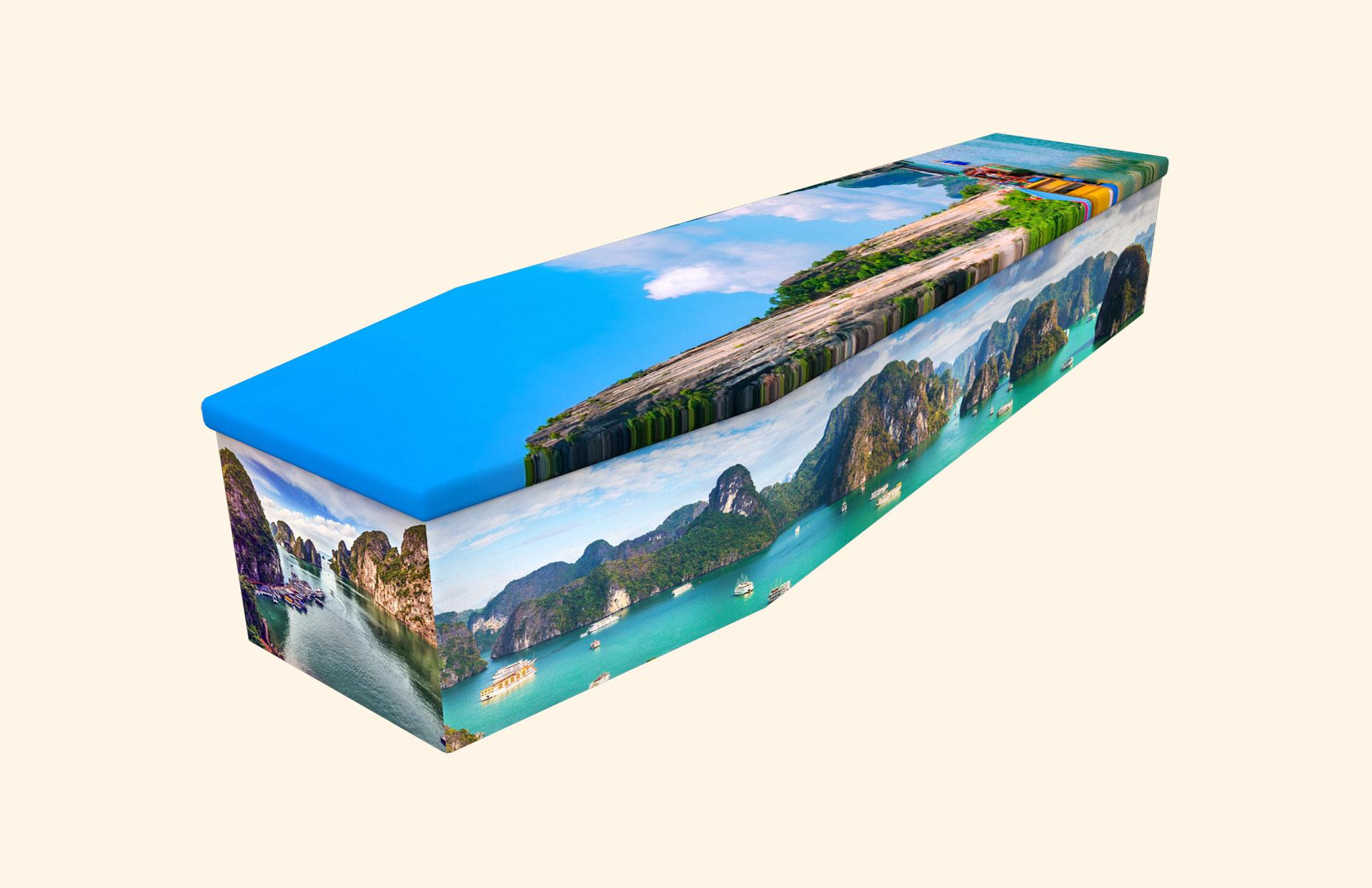 Ha Long Bay cardboard coffin